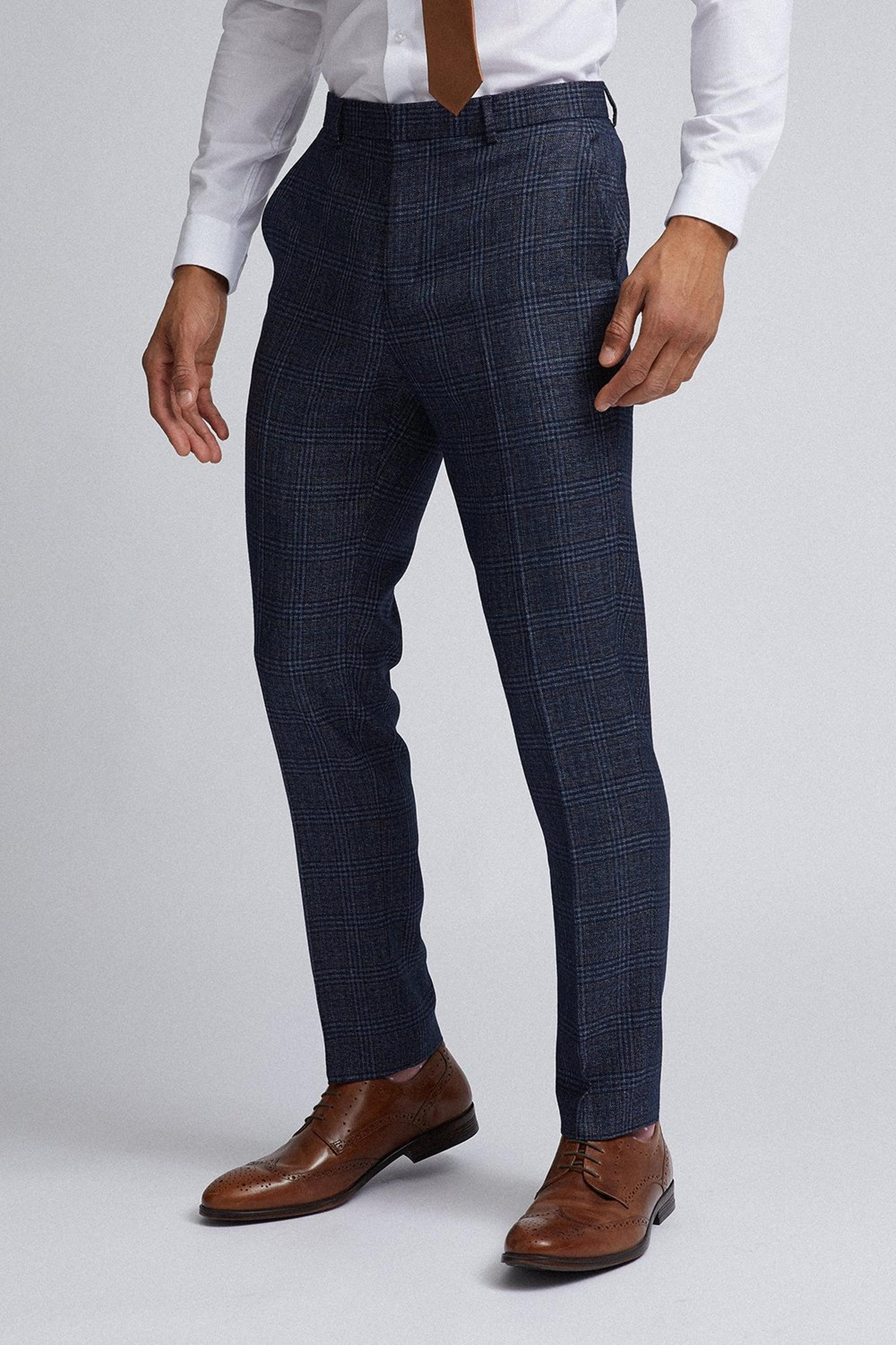 Slim Navy Grindle Suit Trousers