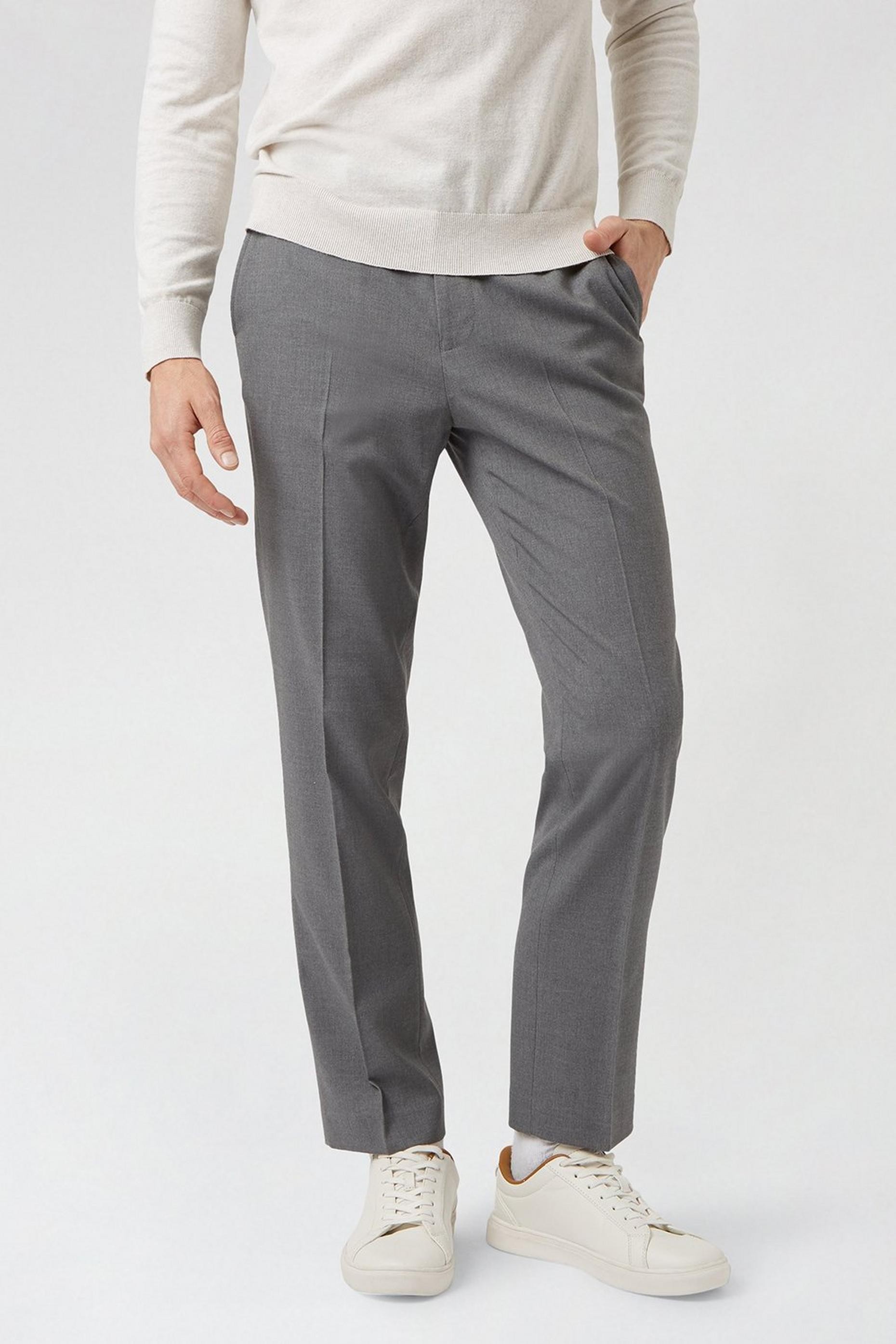 Light grey essential eco Slim Fit  trousers
