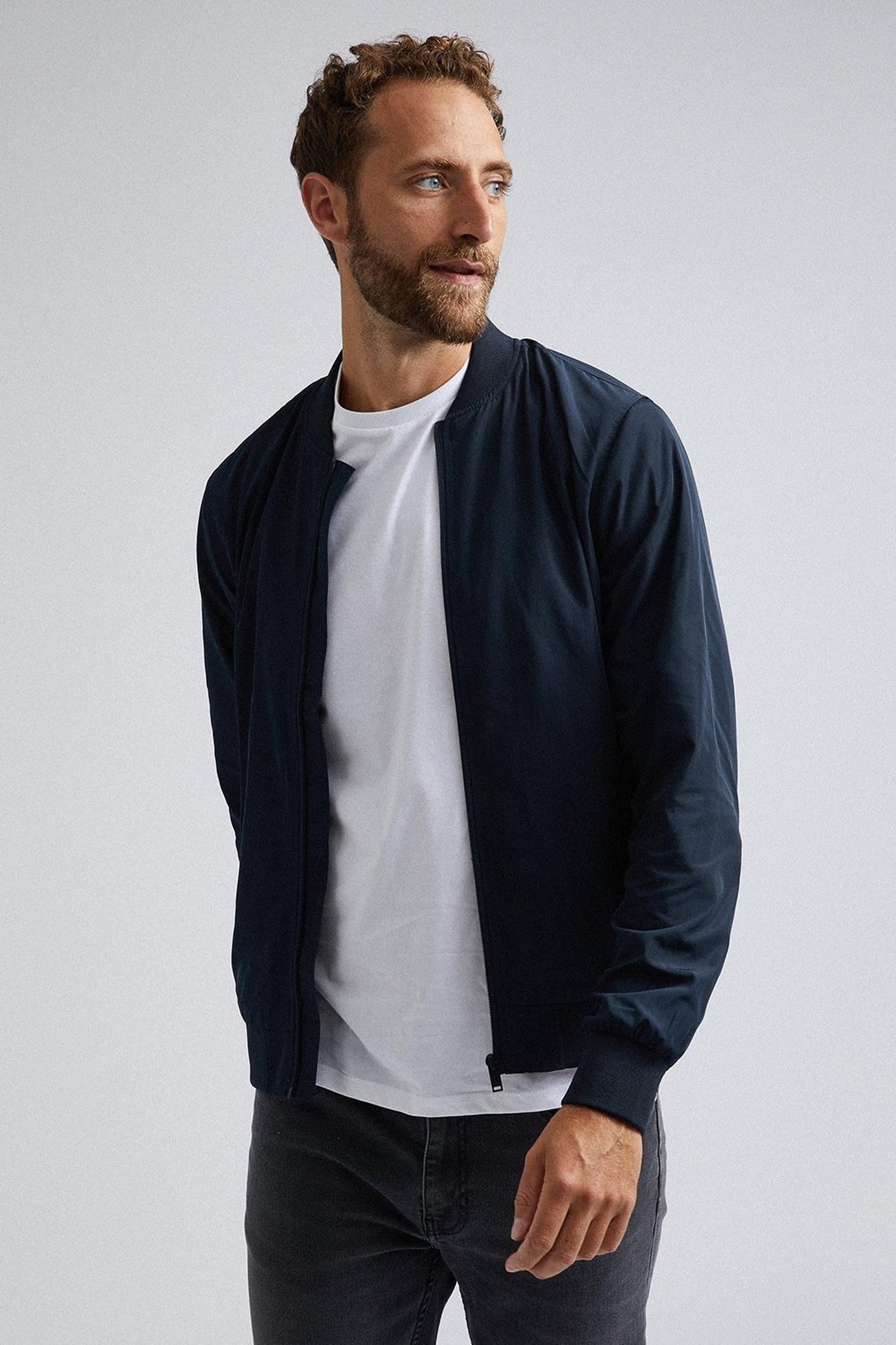 Navy Core Bomber Jacket