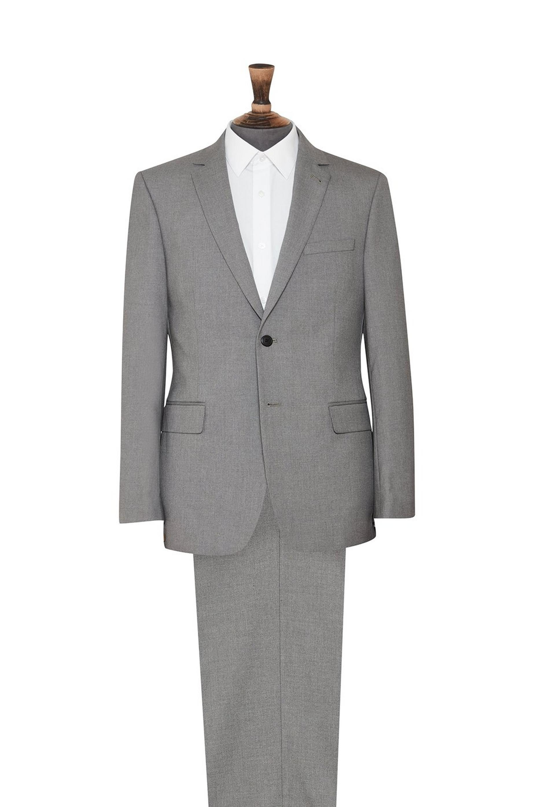 Grey Essential Tailored Fit Suit Jacket