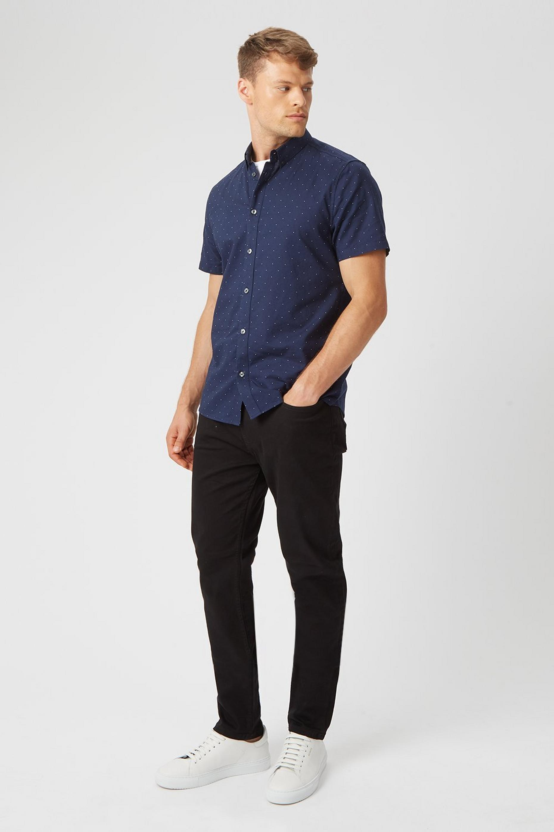 Black Tapered Fit Jeans with Organic Cotton