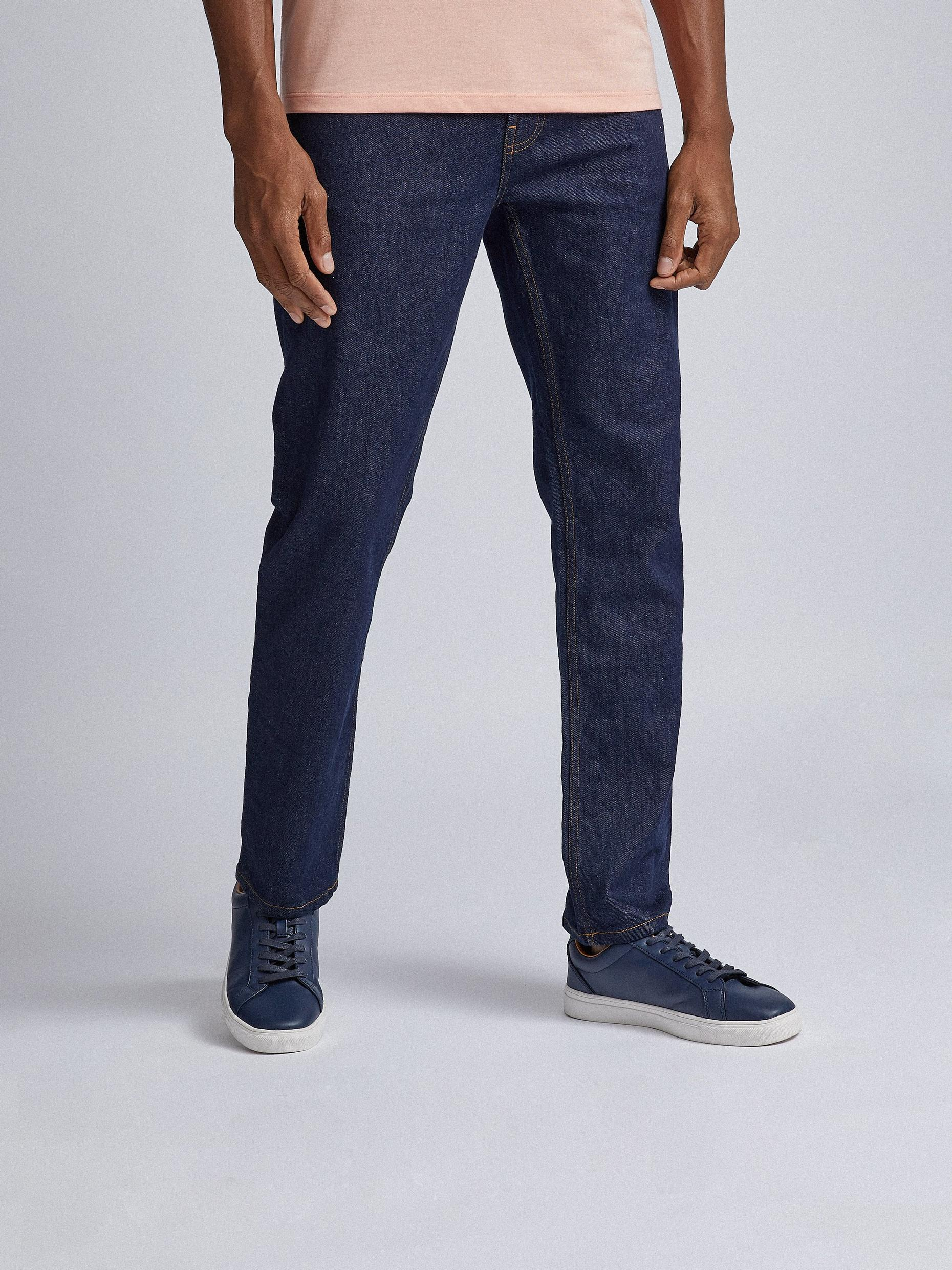 Slim Rinse wash Jeans With Organic Cotton