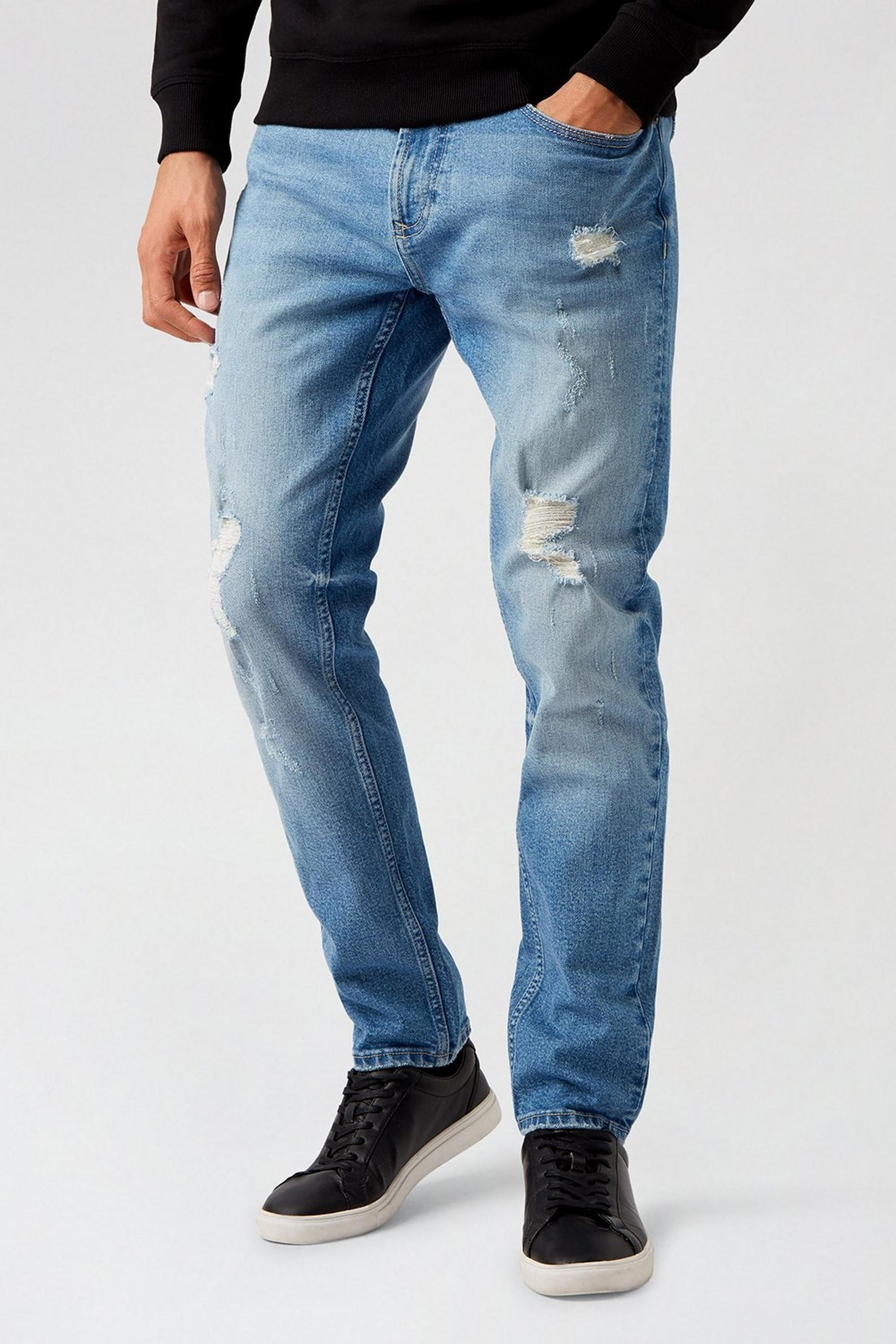 Tapered Light Vintage Wash Organic Jeans