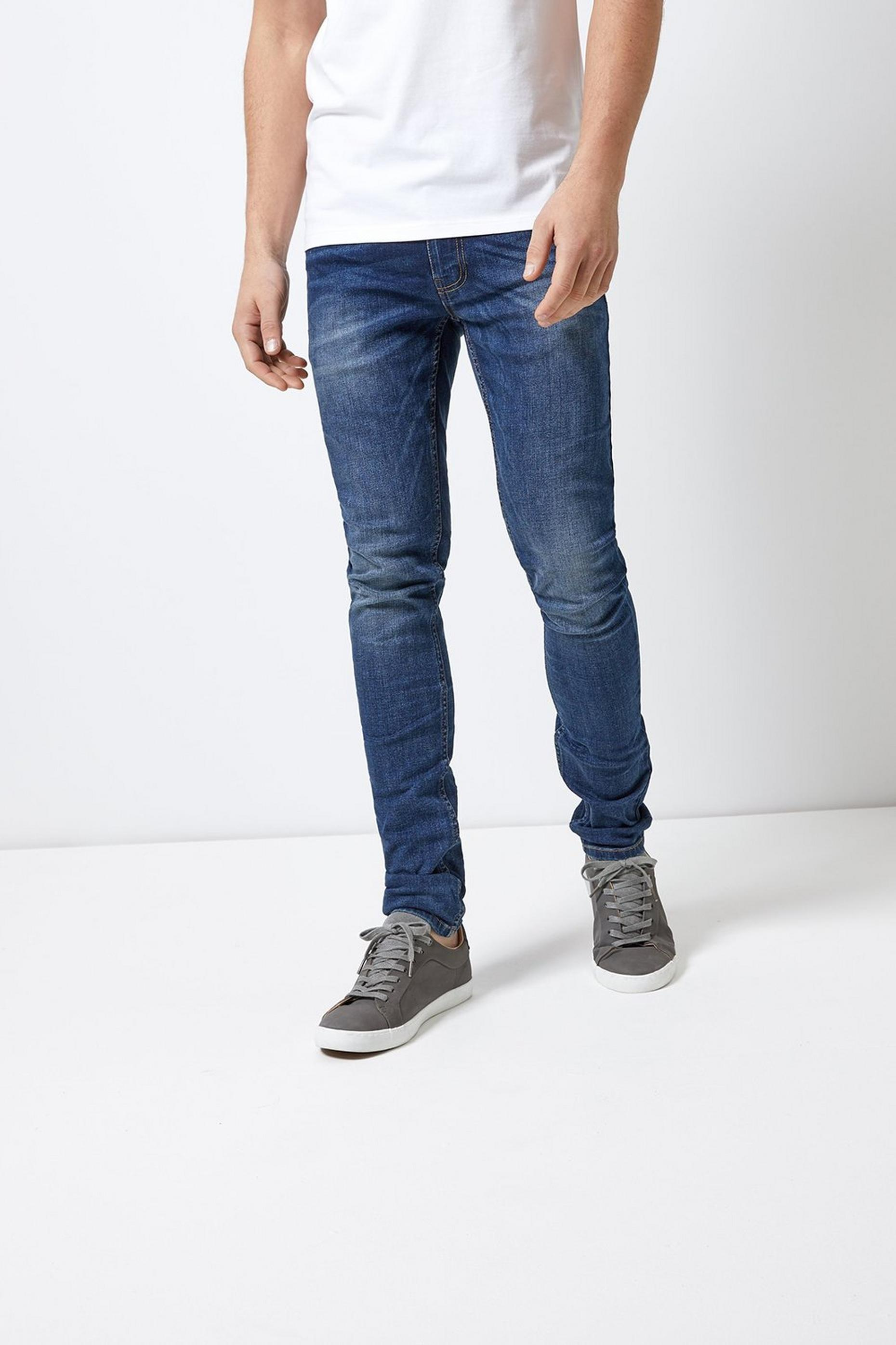 Super Skinny Mid Blue Jeans