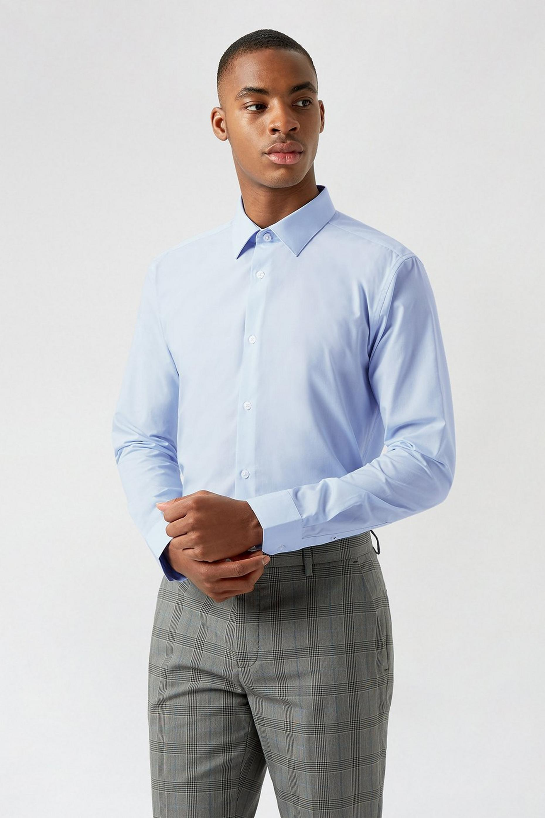 Blue Essential Skinny Fit Shirt