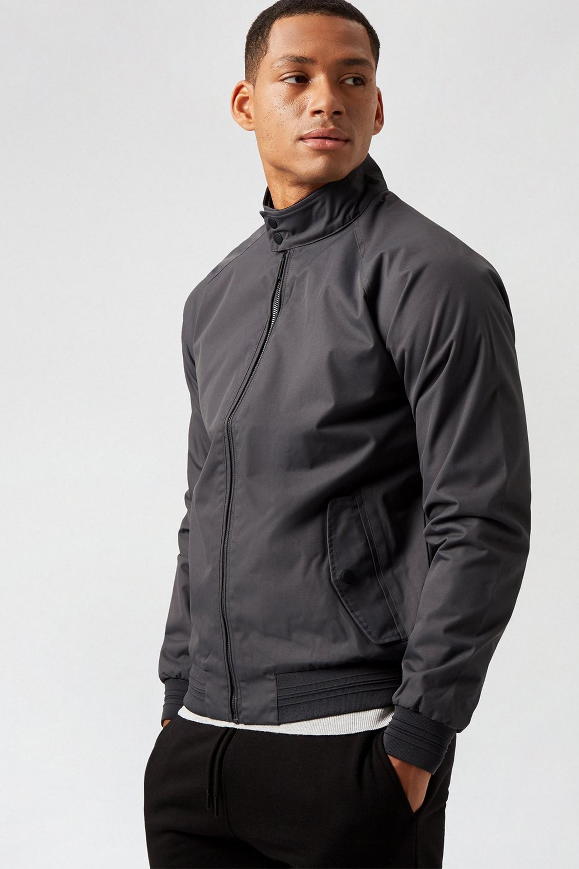 Mid Charcoal Harrington Jacket