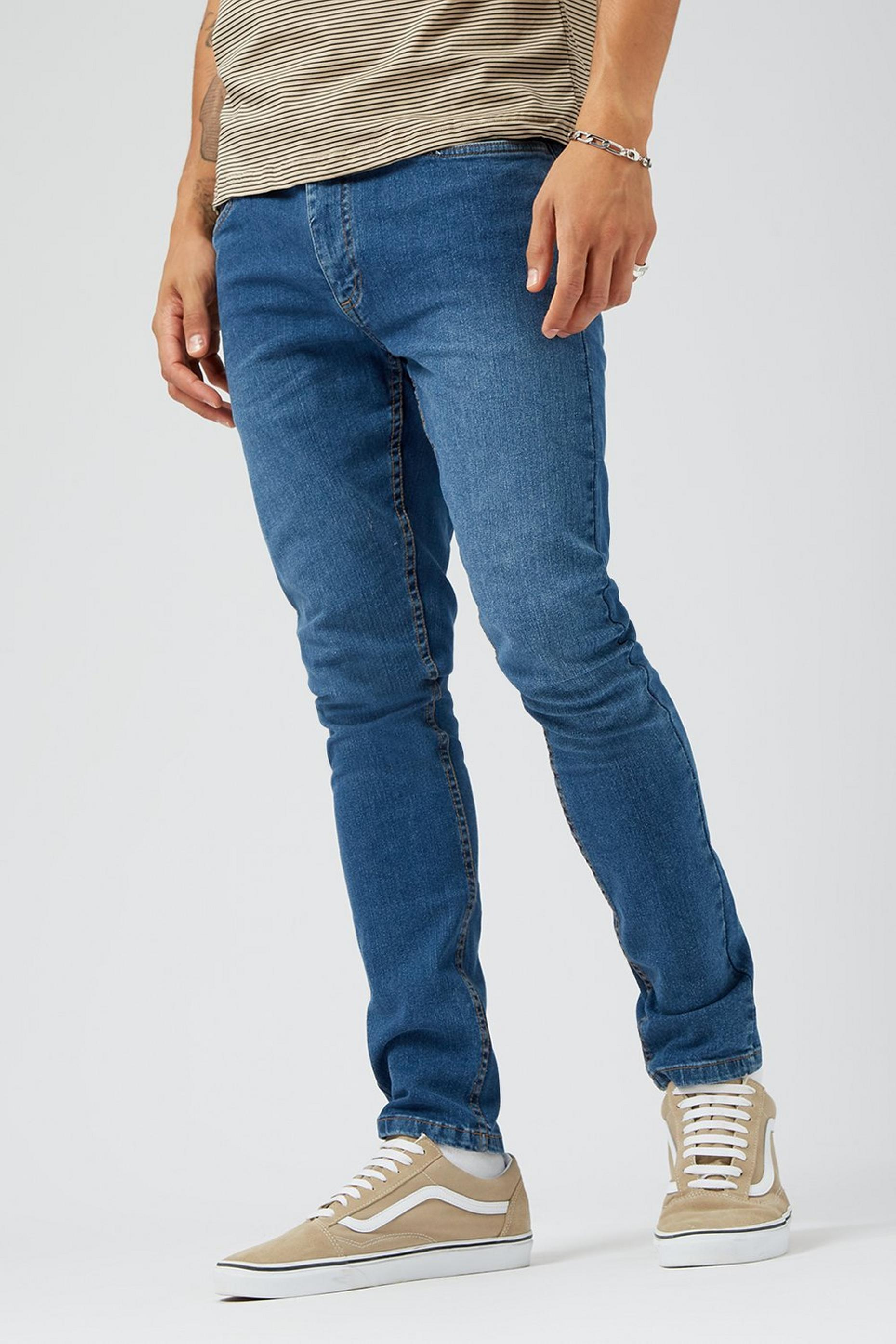 Mid Blue Tyler Skinny Fit Jeans