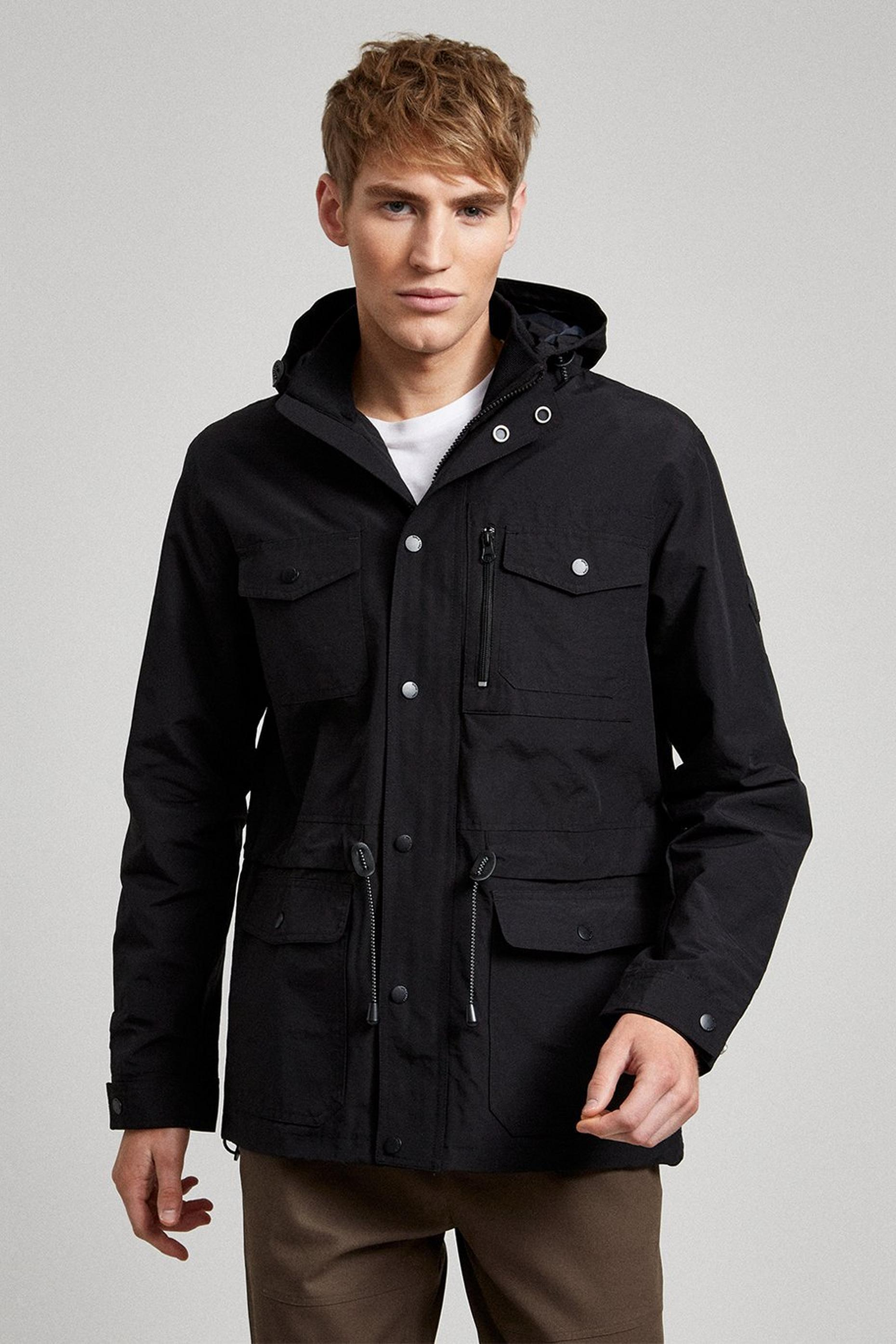 Black Short Parka