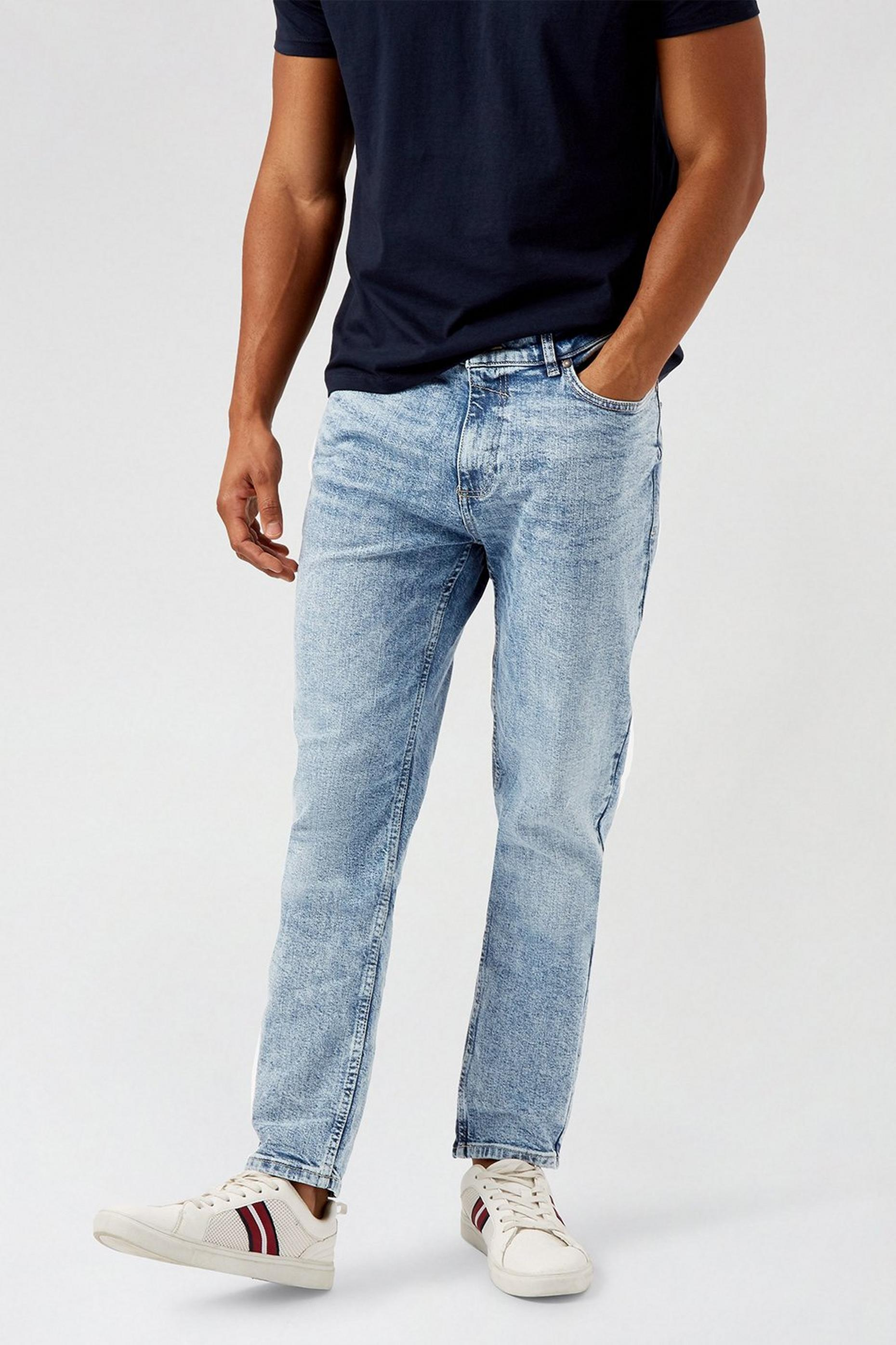 Blue Tapered Fit Organic Jeans