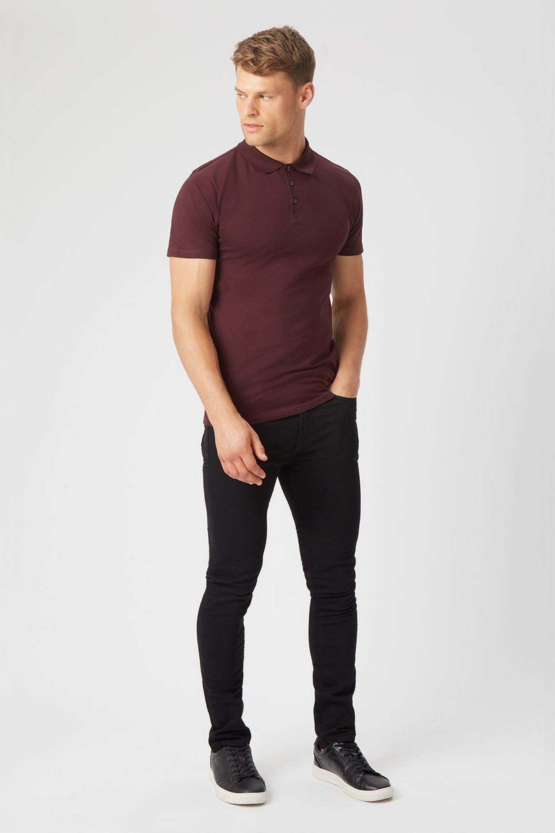 Black Super Skinny Jeans With Organic Cotton