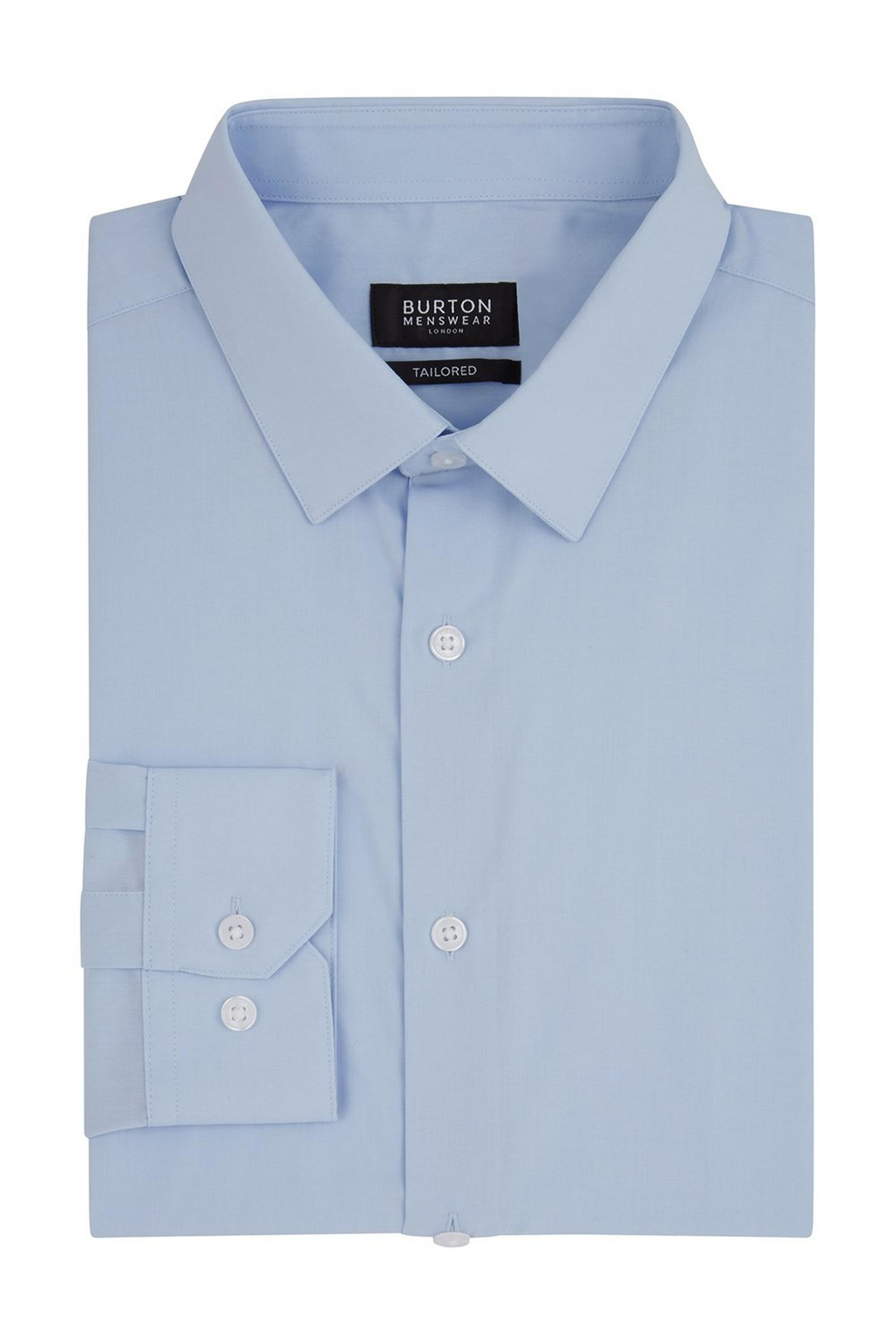 Blue Tailored Easy Iron Shirt