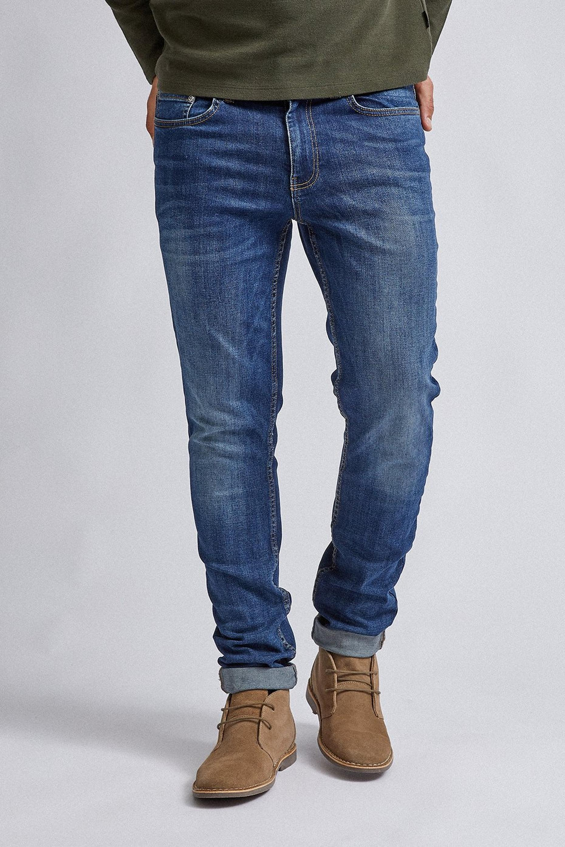 Mid Blue Blake Slim Fit Jeans