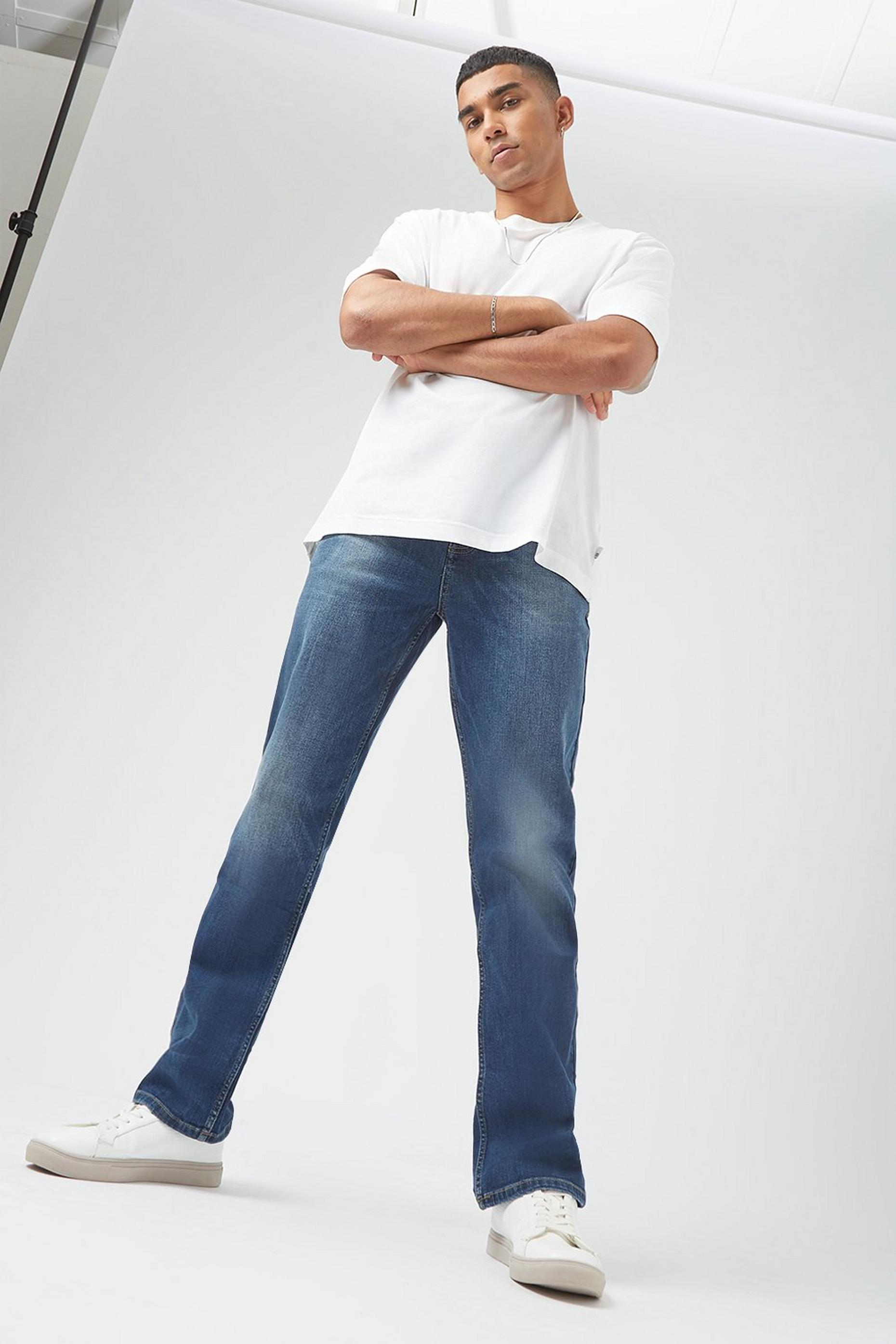Straight Mid Wash Organic Jeans