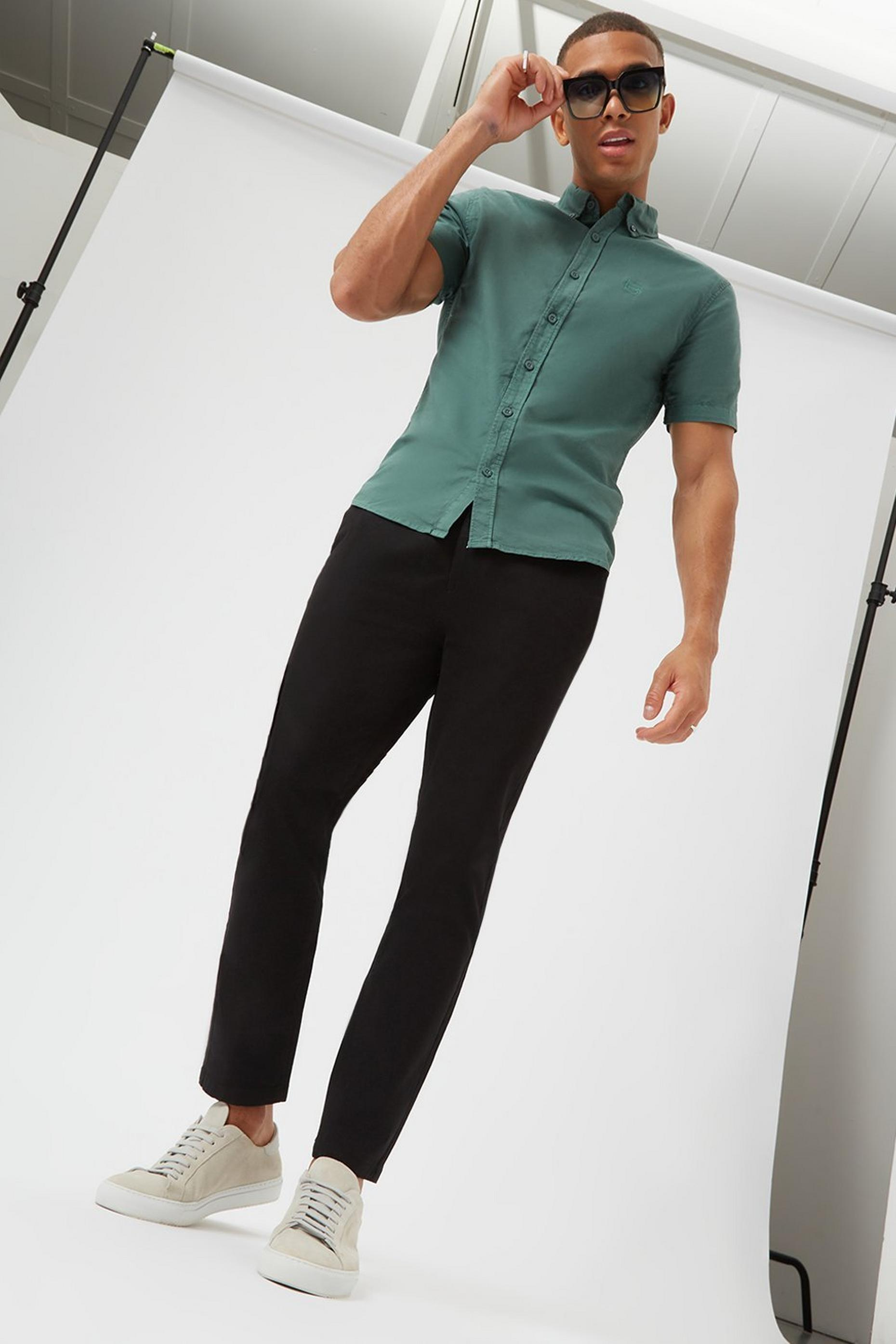 Skinny Fit Black Chino