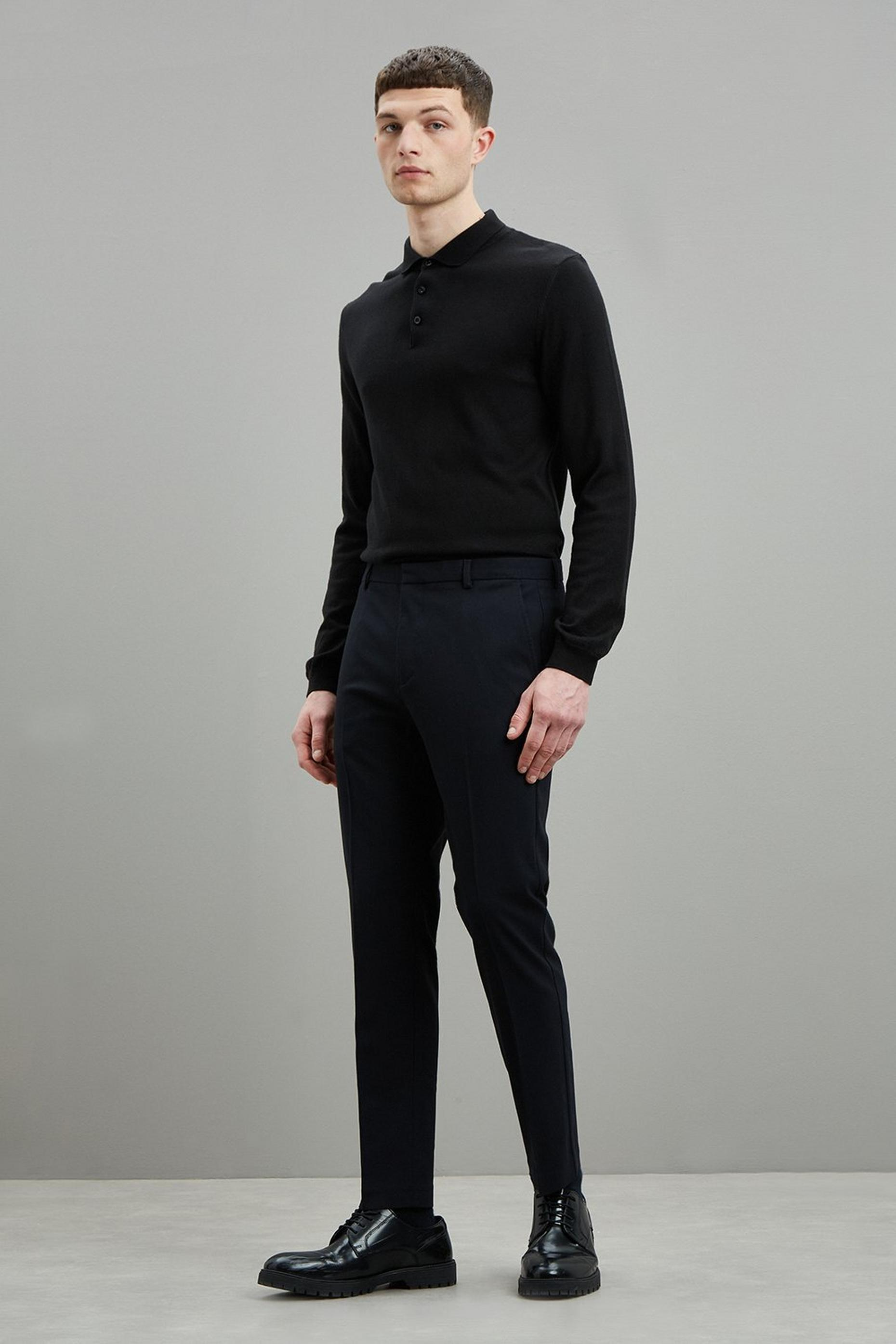 Navy Super Skinny Recycled Trousers