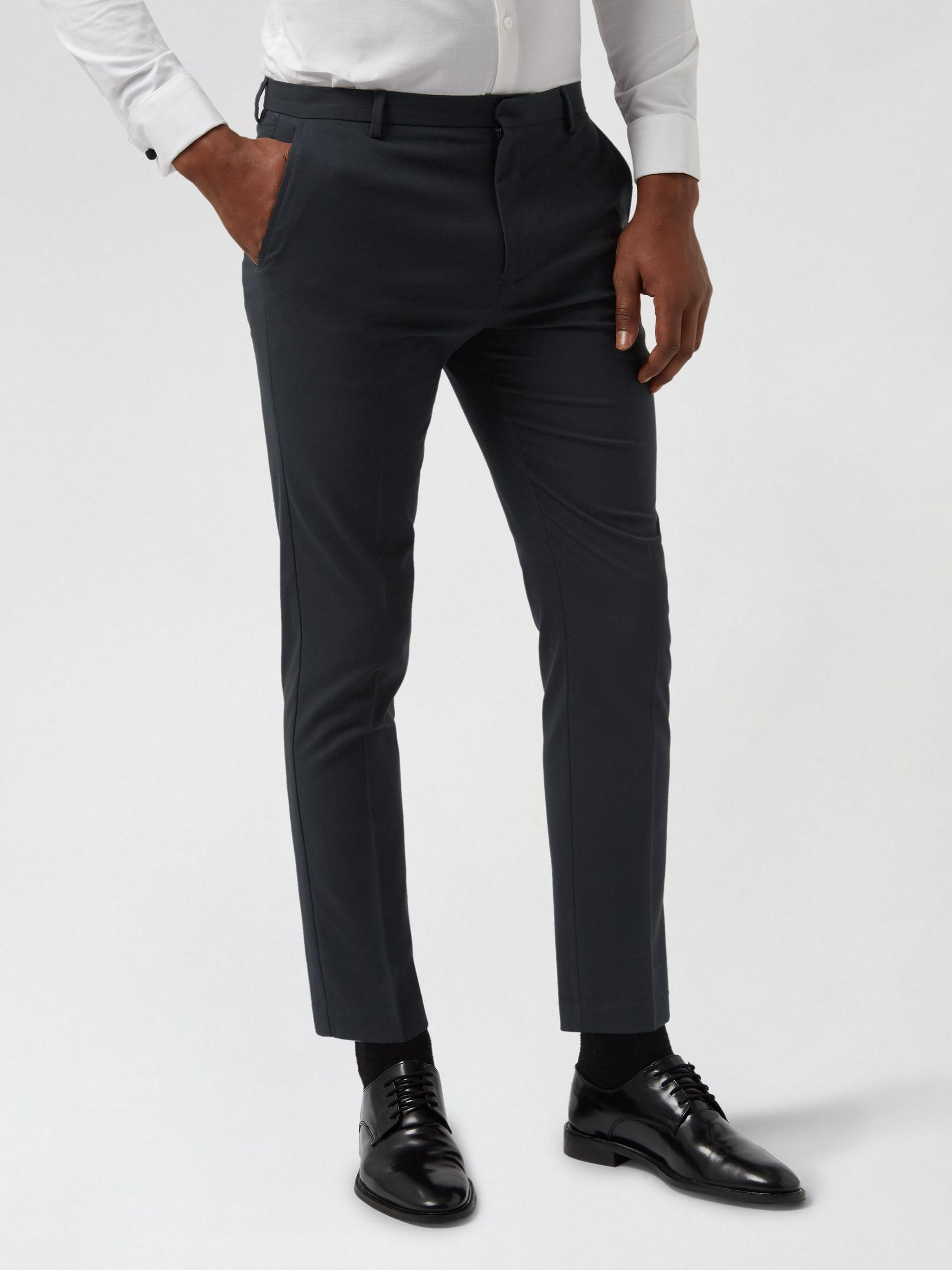 2 Pack Navy And Mid Grey Slim Fit Trousers
