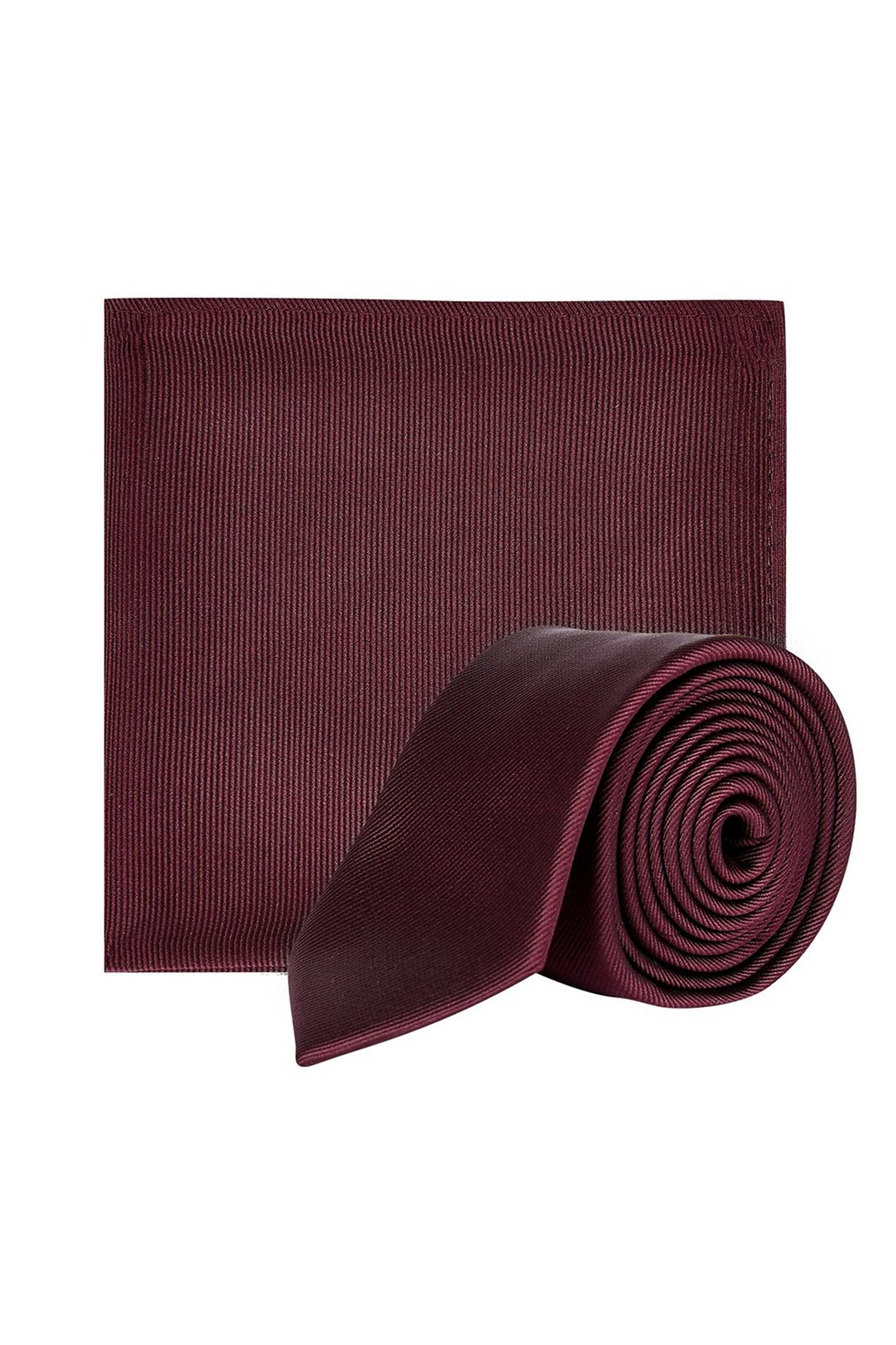Dark Burgundy Tie set