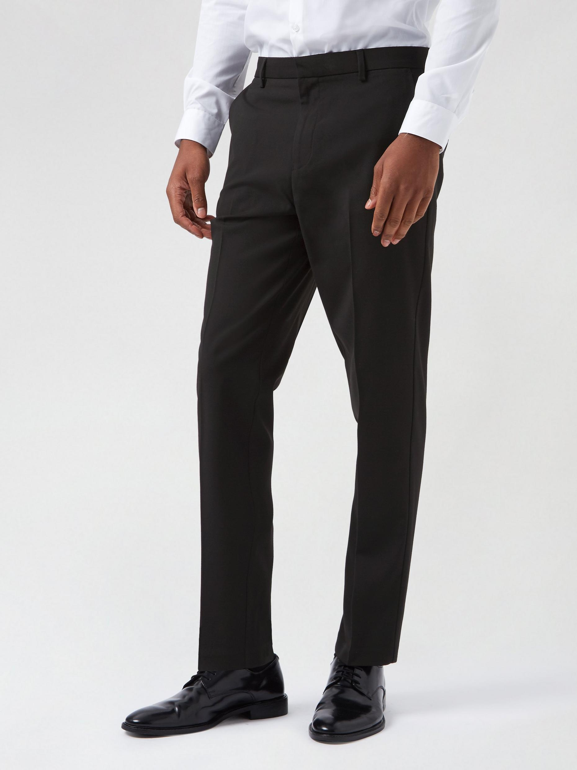2 Pack Slim Fit Black Trousers