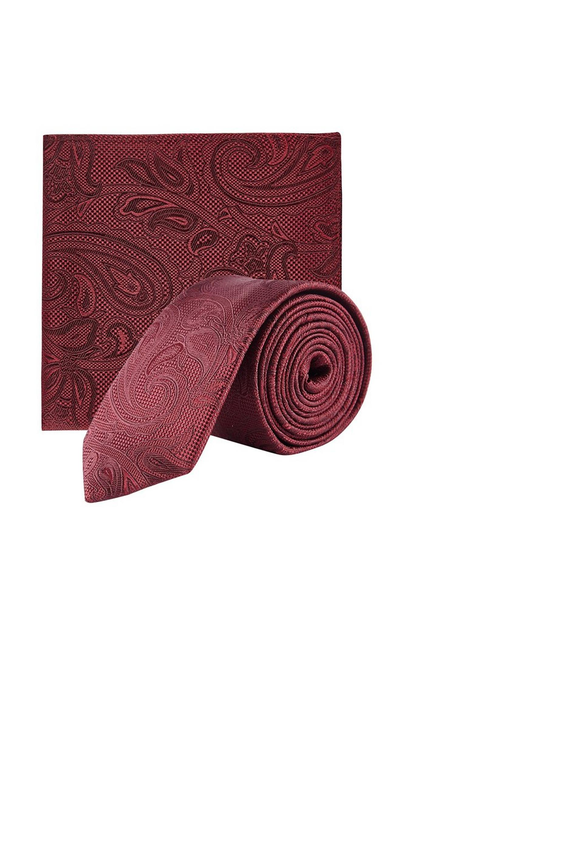 Burgundy Paisley Set