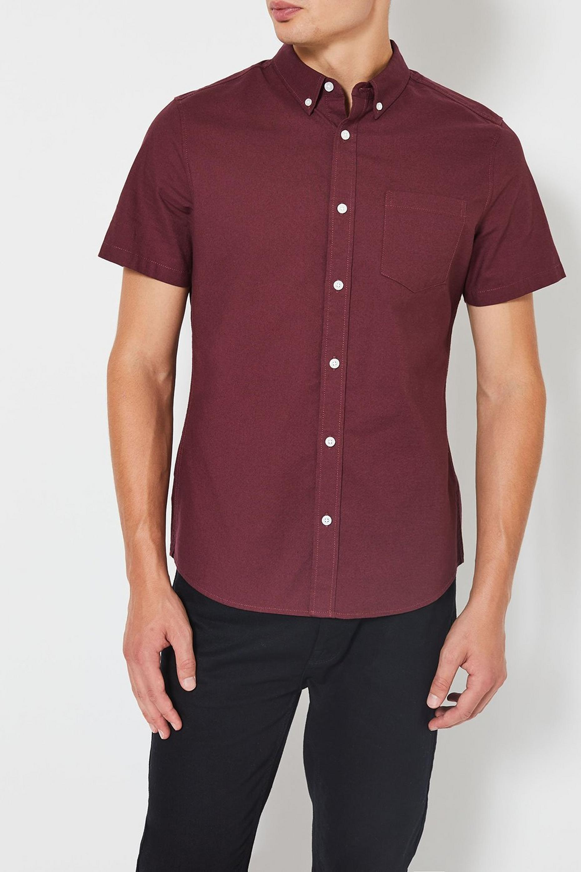 Berry Short Sleeve Oxford Shirt
