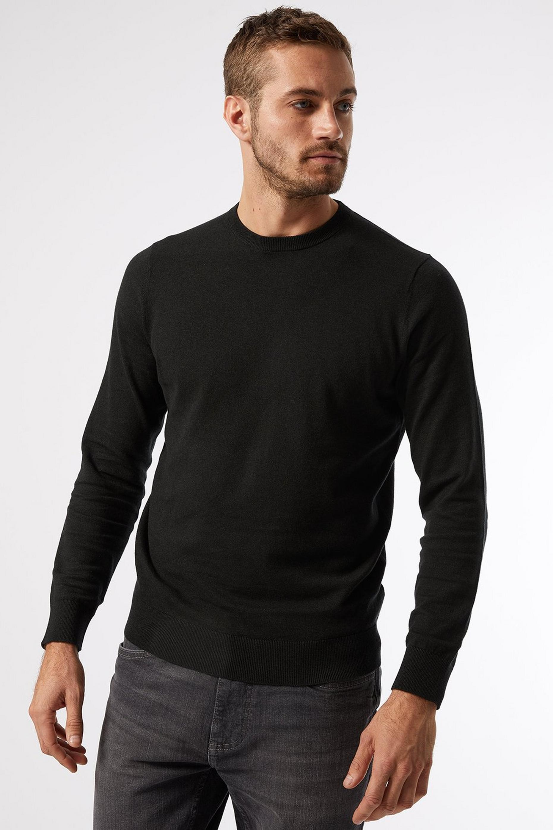 Cotton Crew Neck Jumper Green