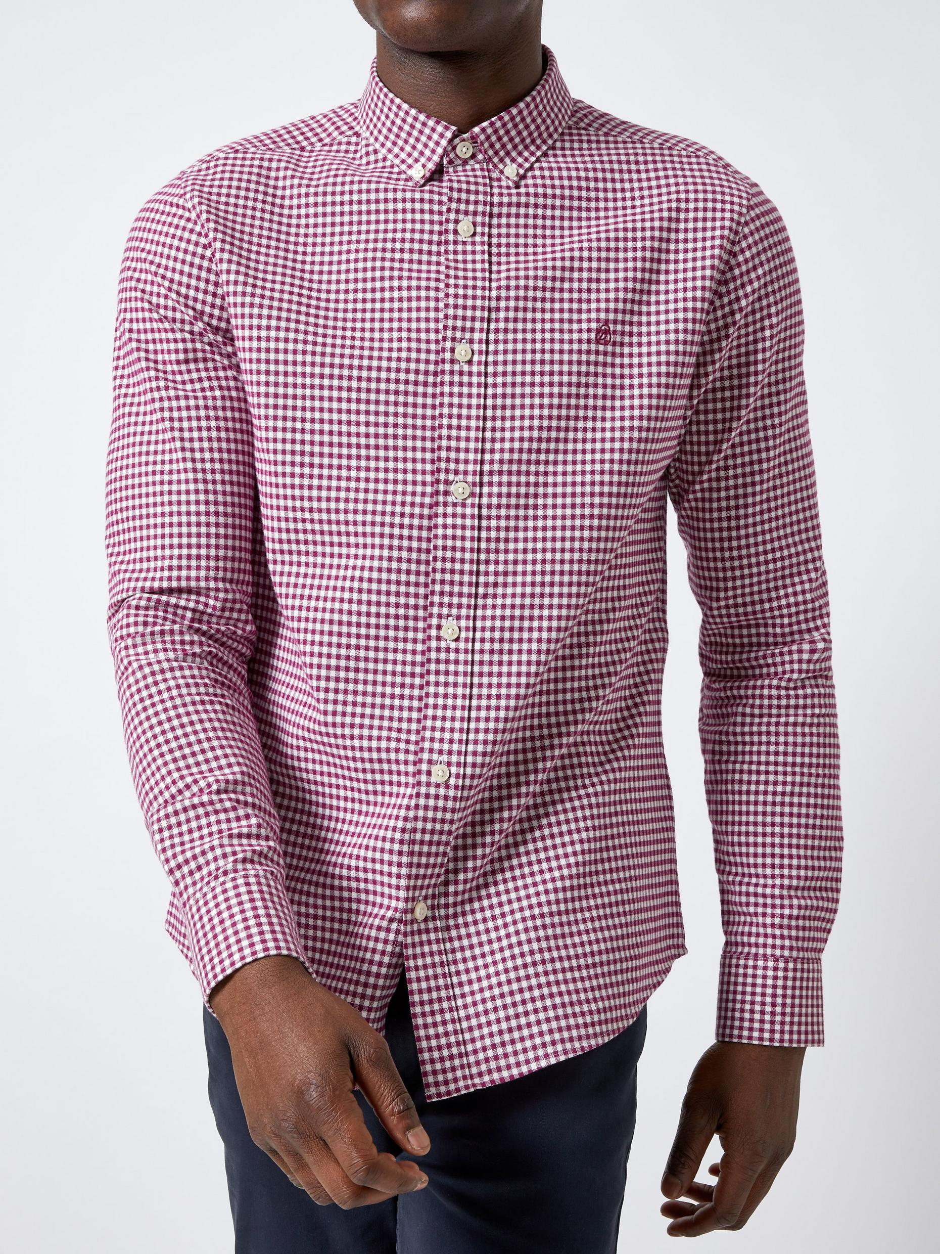White Berry Long Sleeve Gingham Shirt