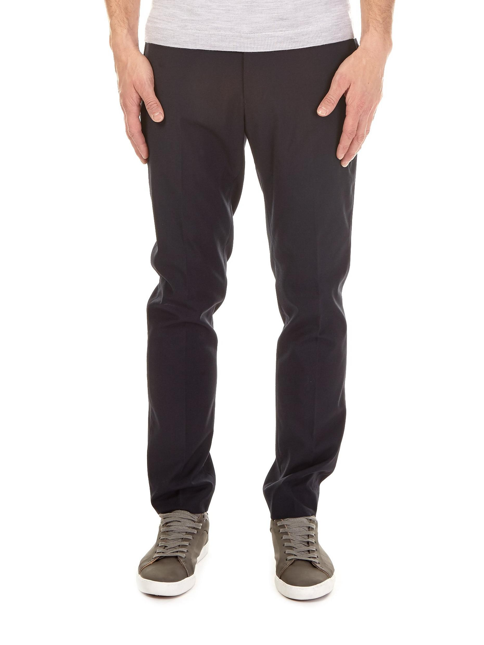 Navy Skinny Fit Stretch Trousers
