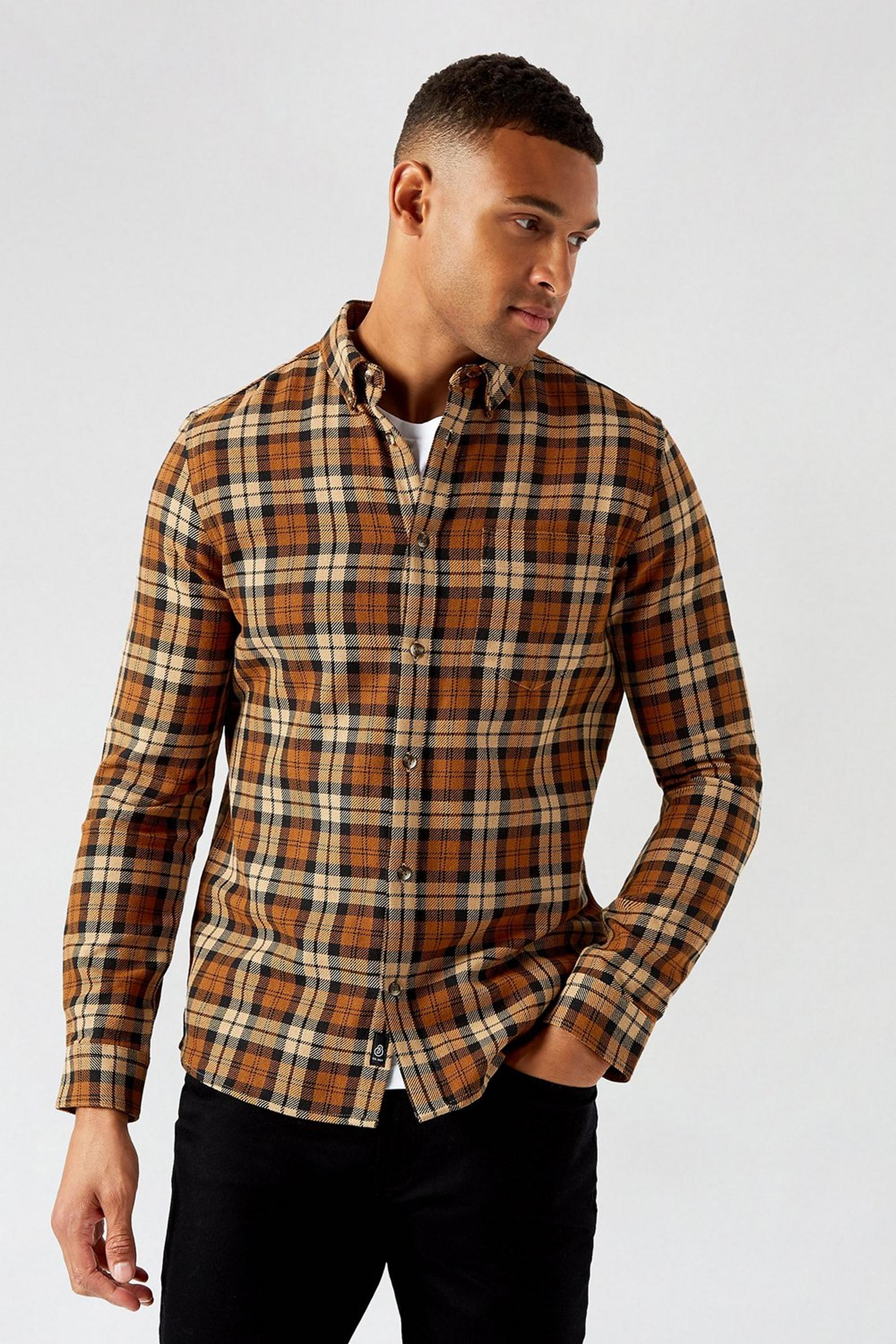 Stone Camel Heavy Check Shirt