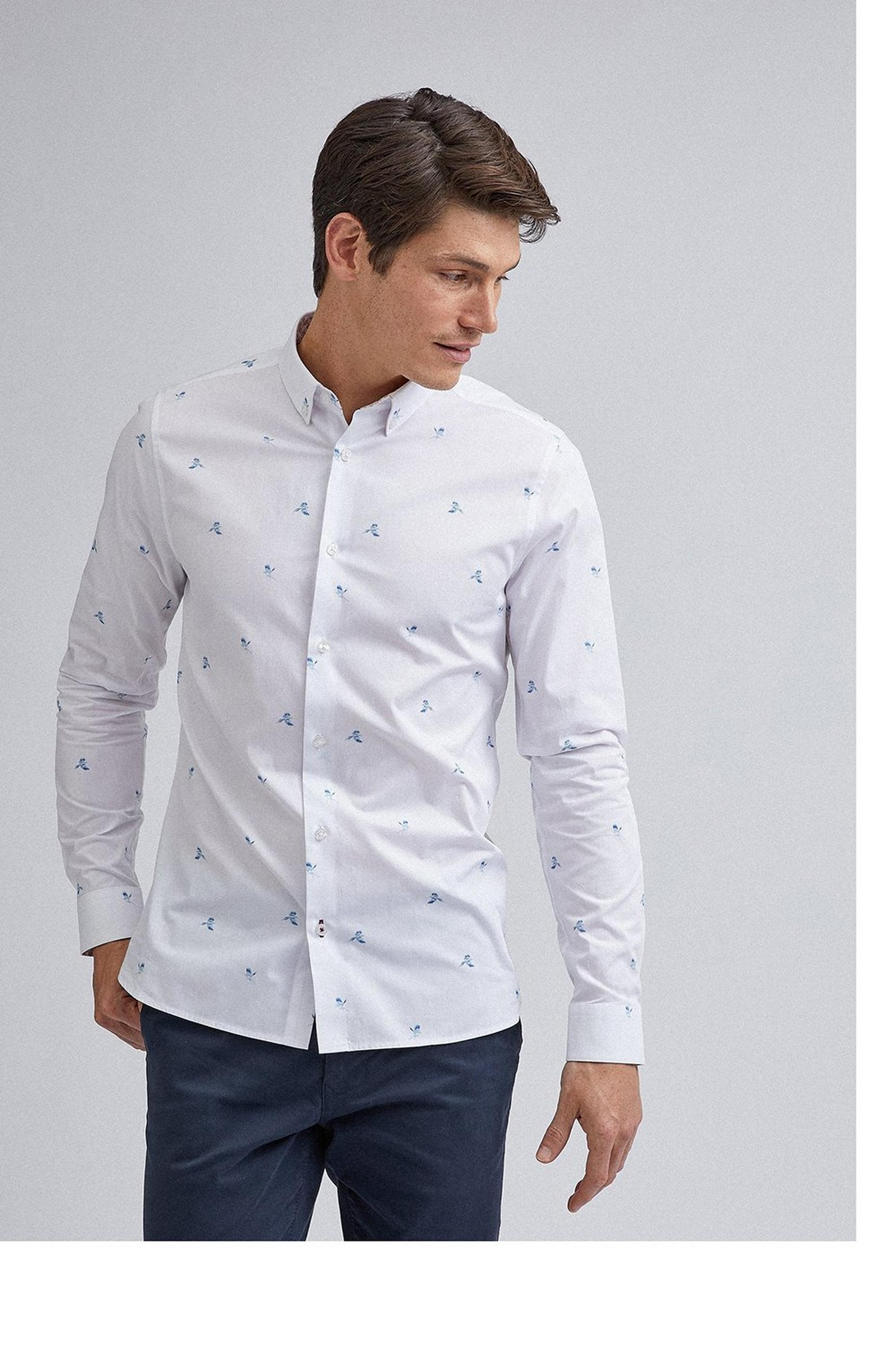 White Flying Bird Shirt