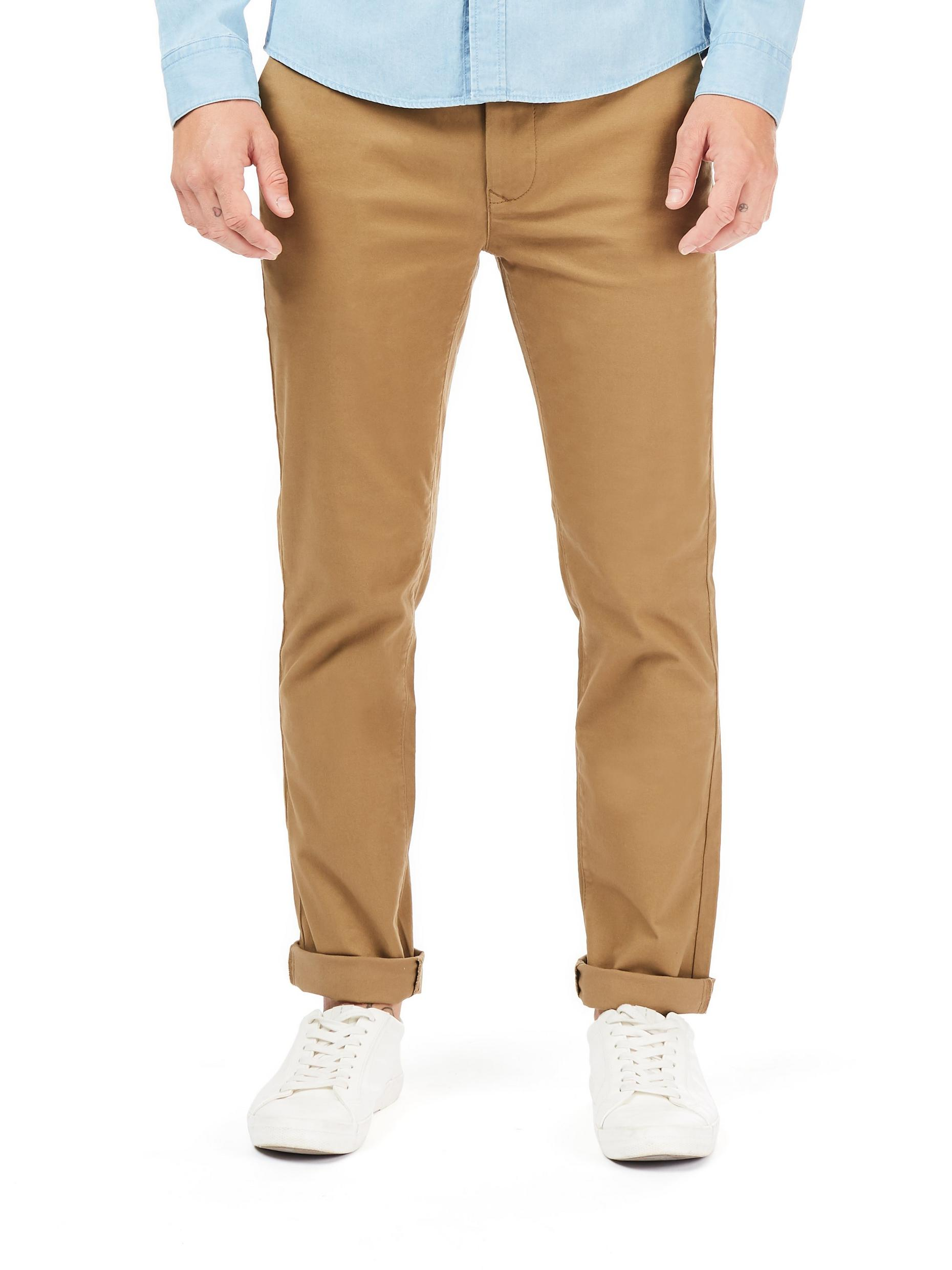 Tan Skinny Fit Stretch Chinos
