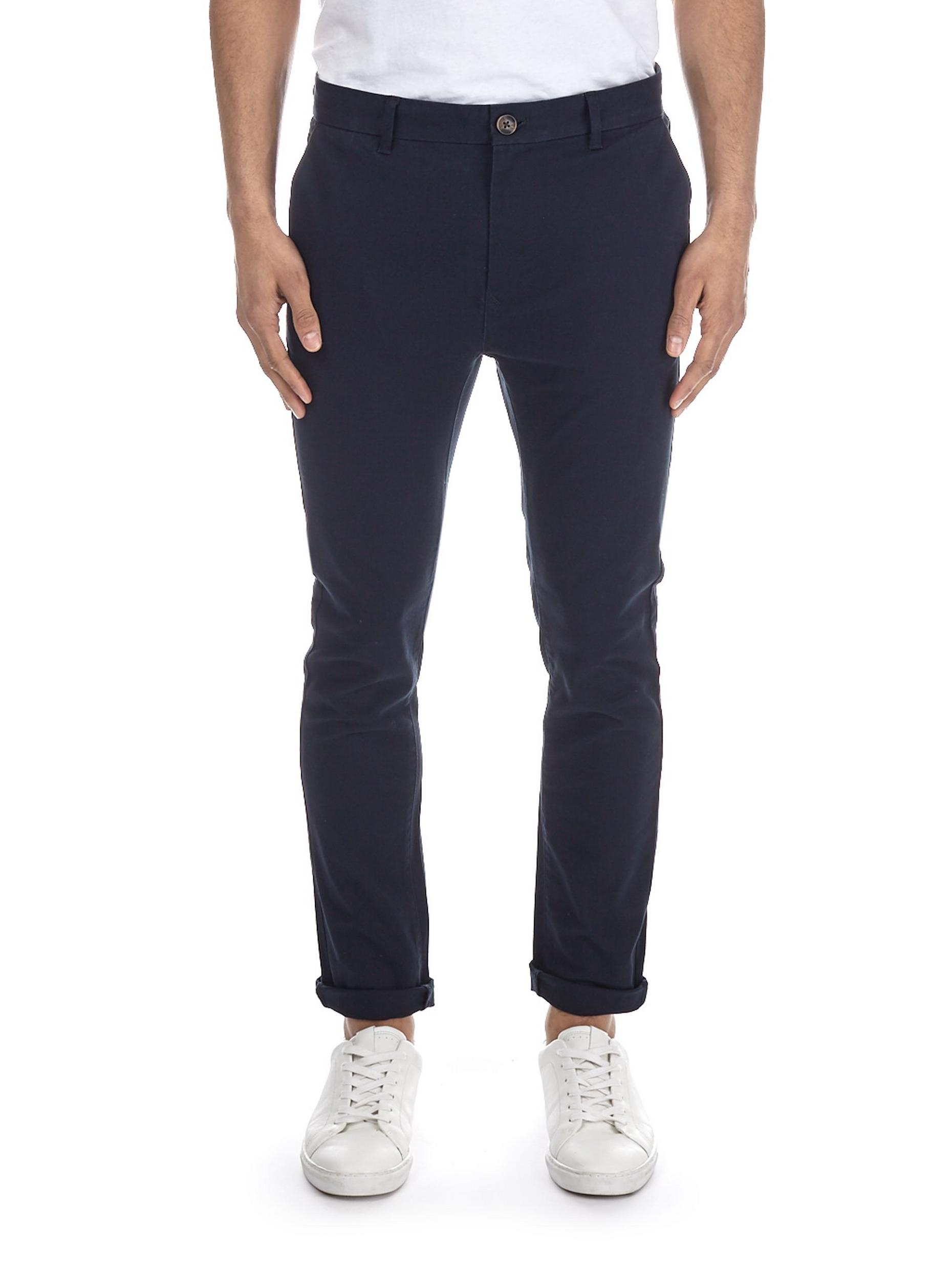 Navy Ethan Super Skinny Fit Stretch Chinos