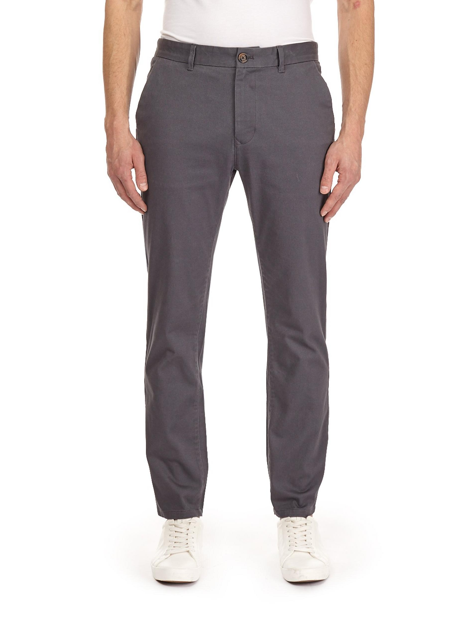 Charcoal Blake Slim Fit Stretch Chinos