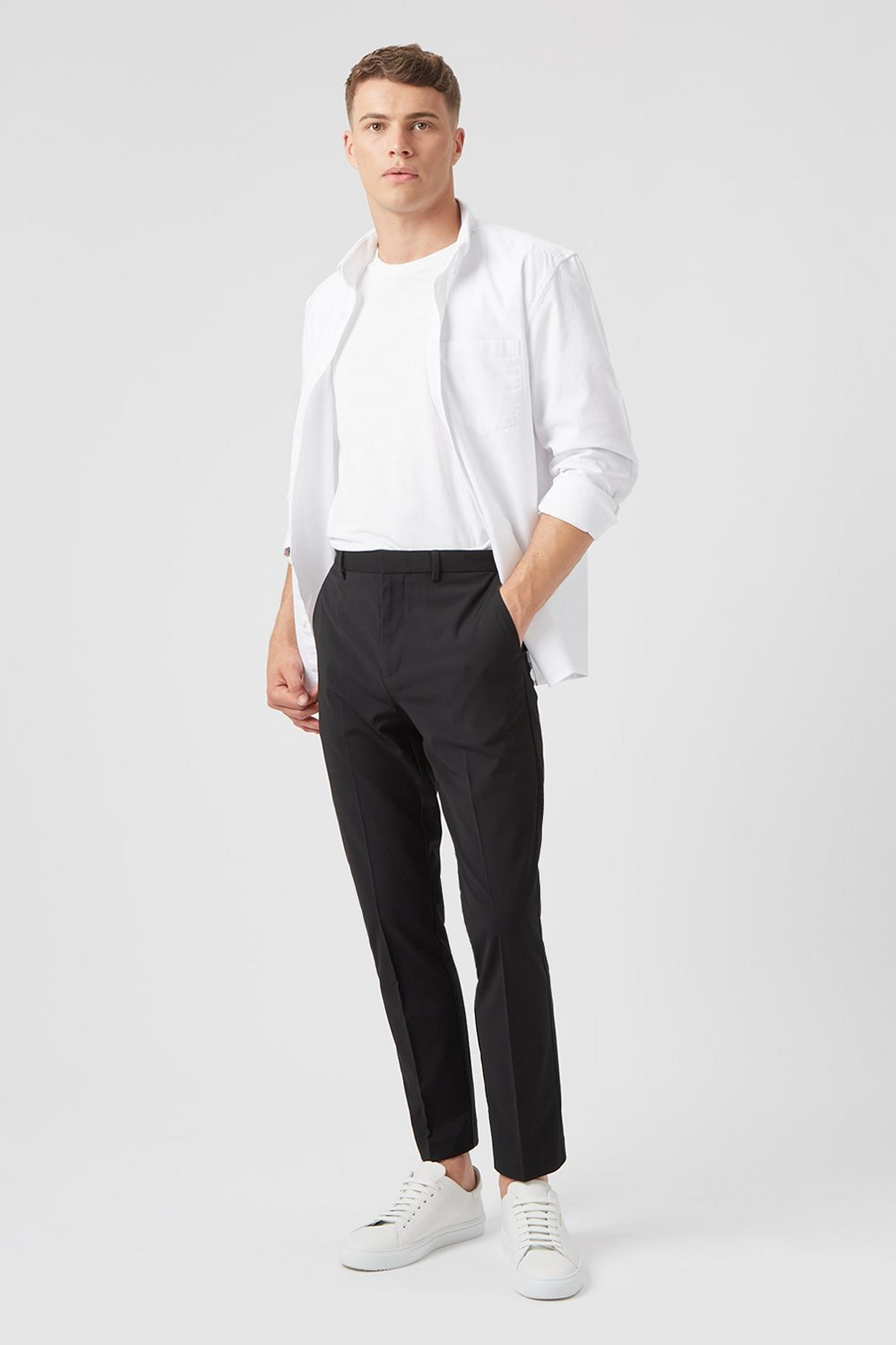 Black Skinny Fit Stretch Trousers