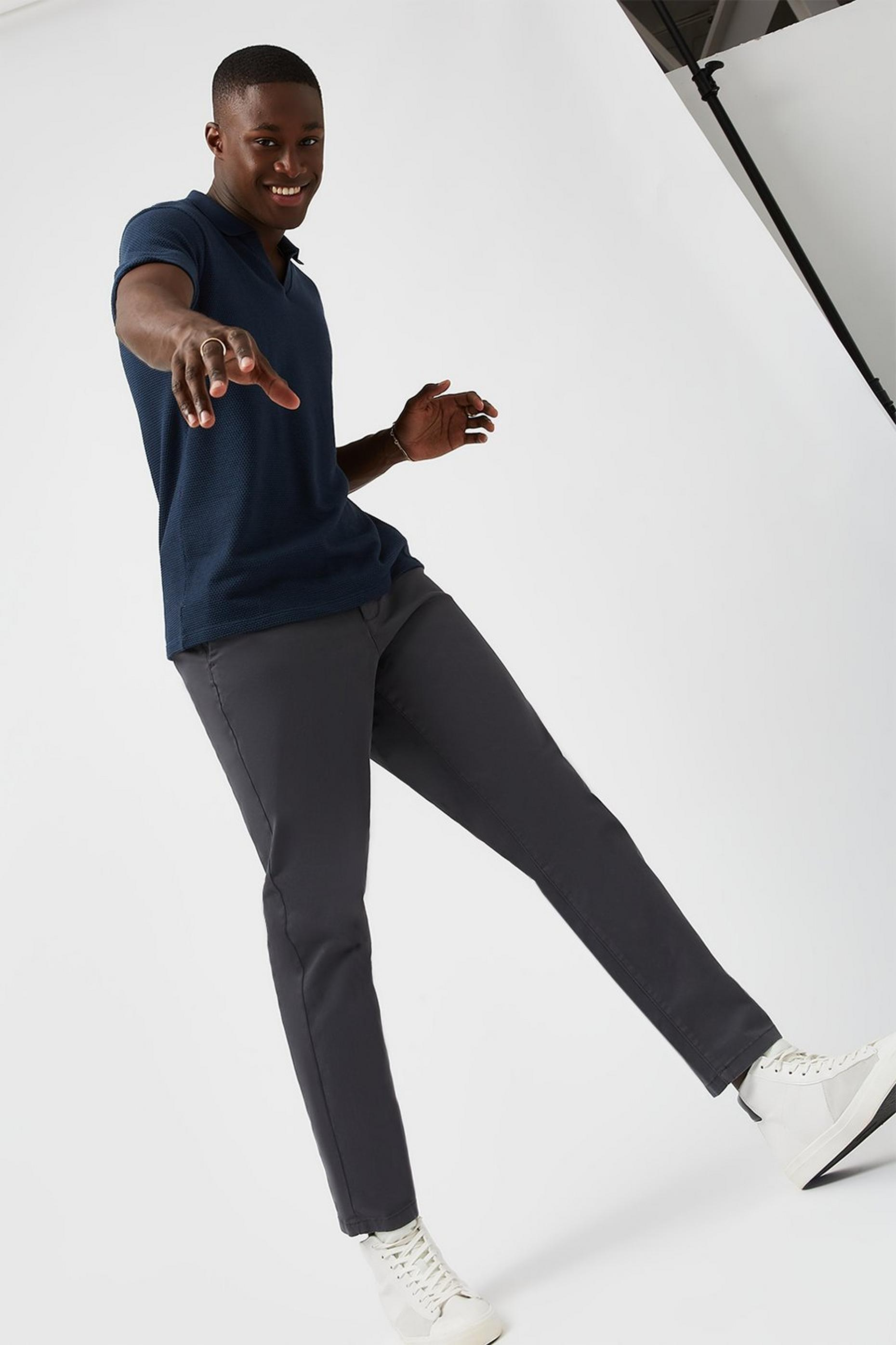 Tapered Mid Grey Chinos