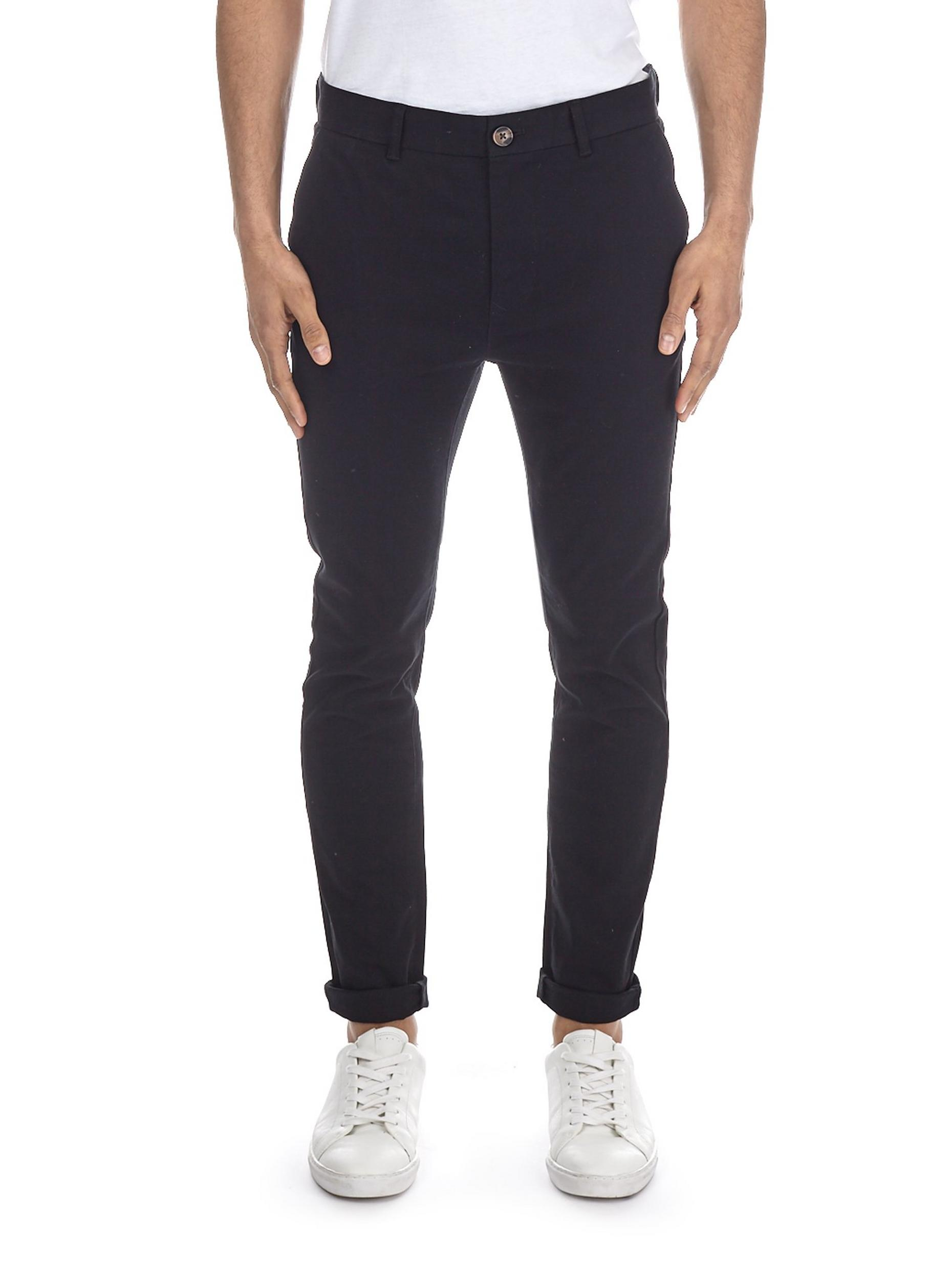 Black Ethan Super Skinny Fit Stretch Chinos