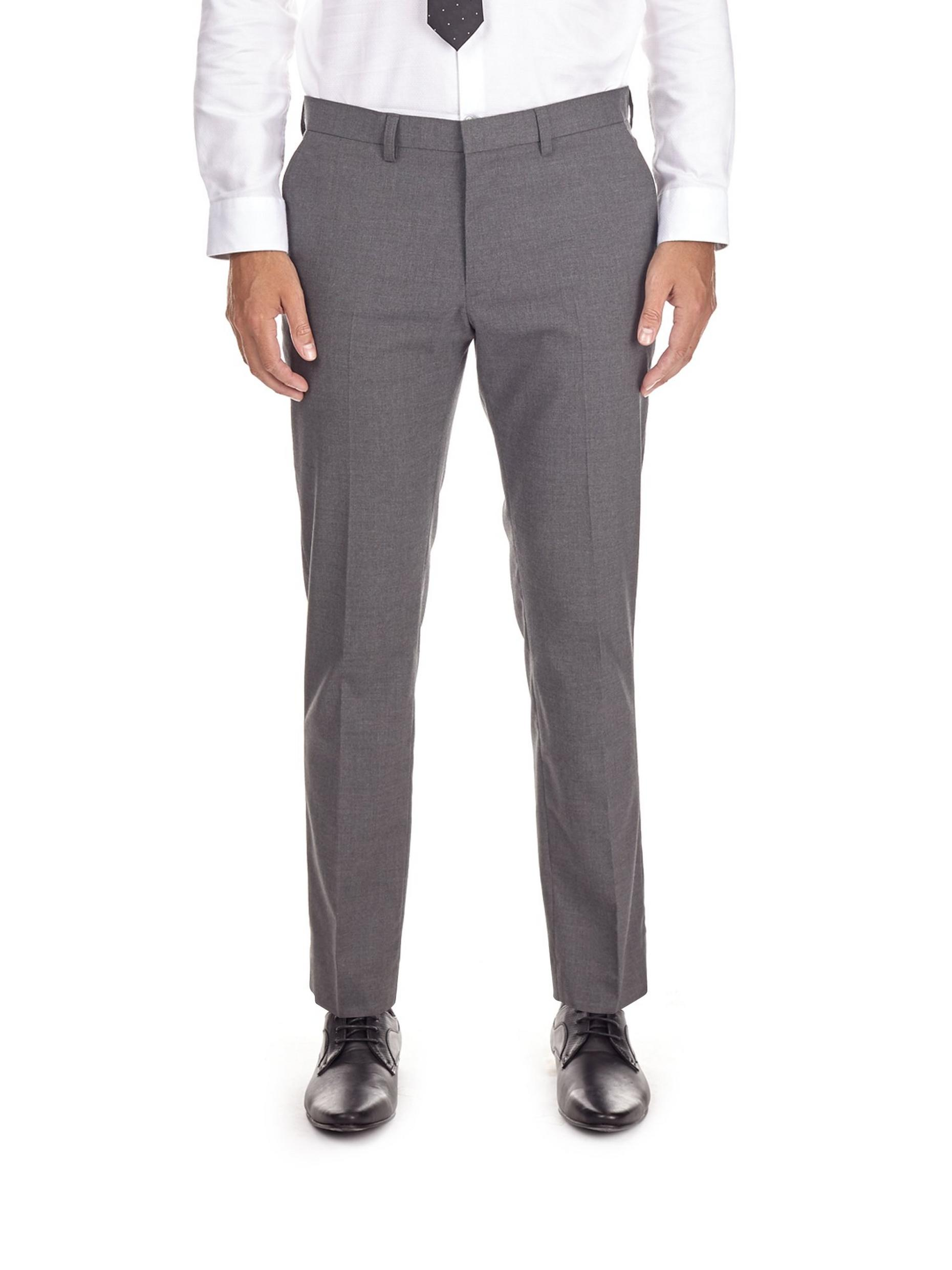 Light Grey Skinny Fit Stretch Trousers