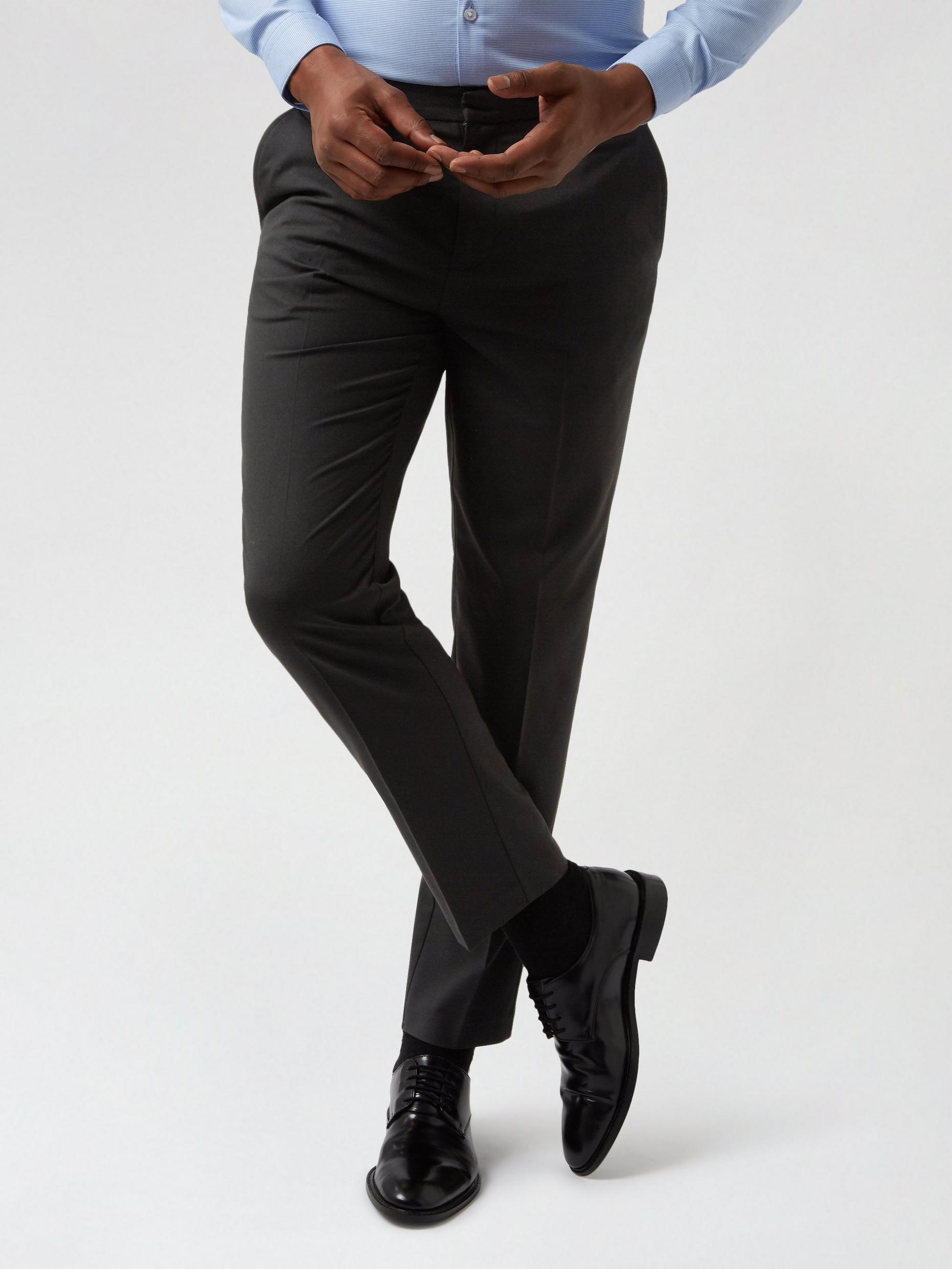 2 Pack Black and Mid Grey Slim Fit Trousers