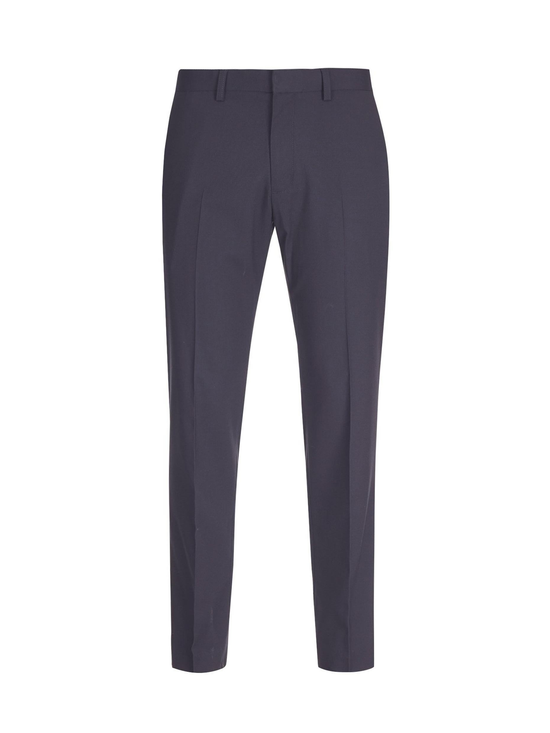 Navy Stretch Slim Fit Trousers