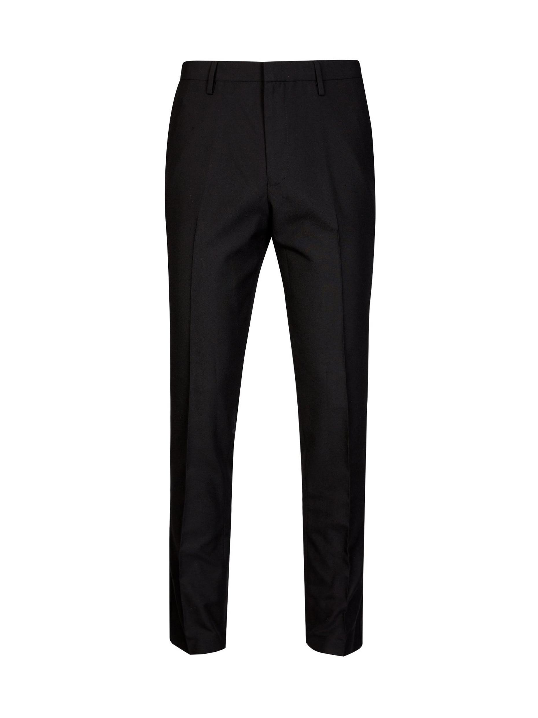 Stretch Tapered Black Trouser