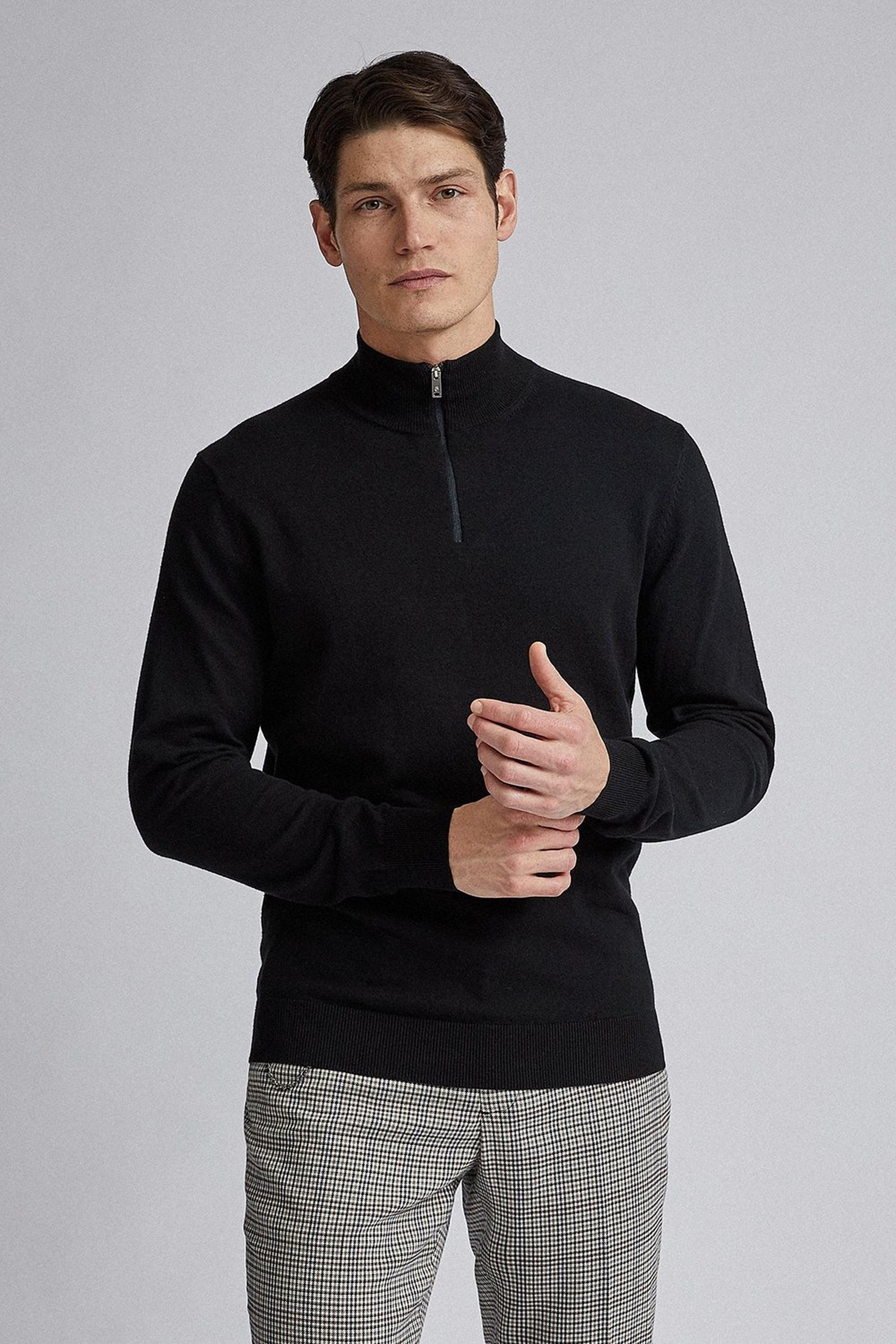 Black Half Zip Jumper