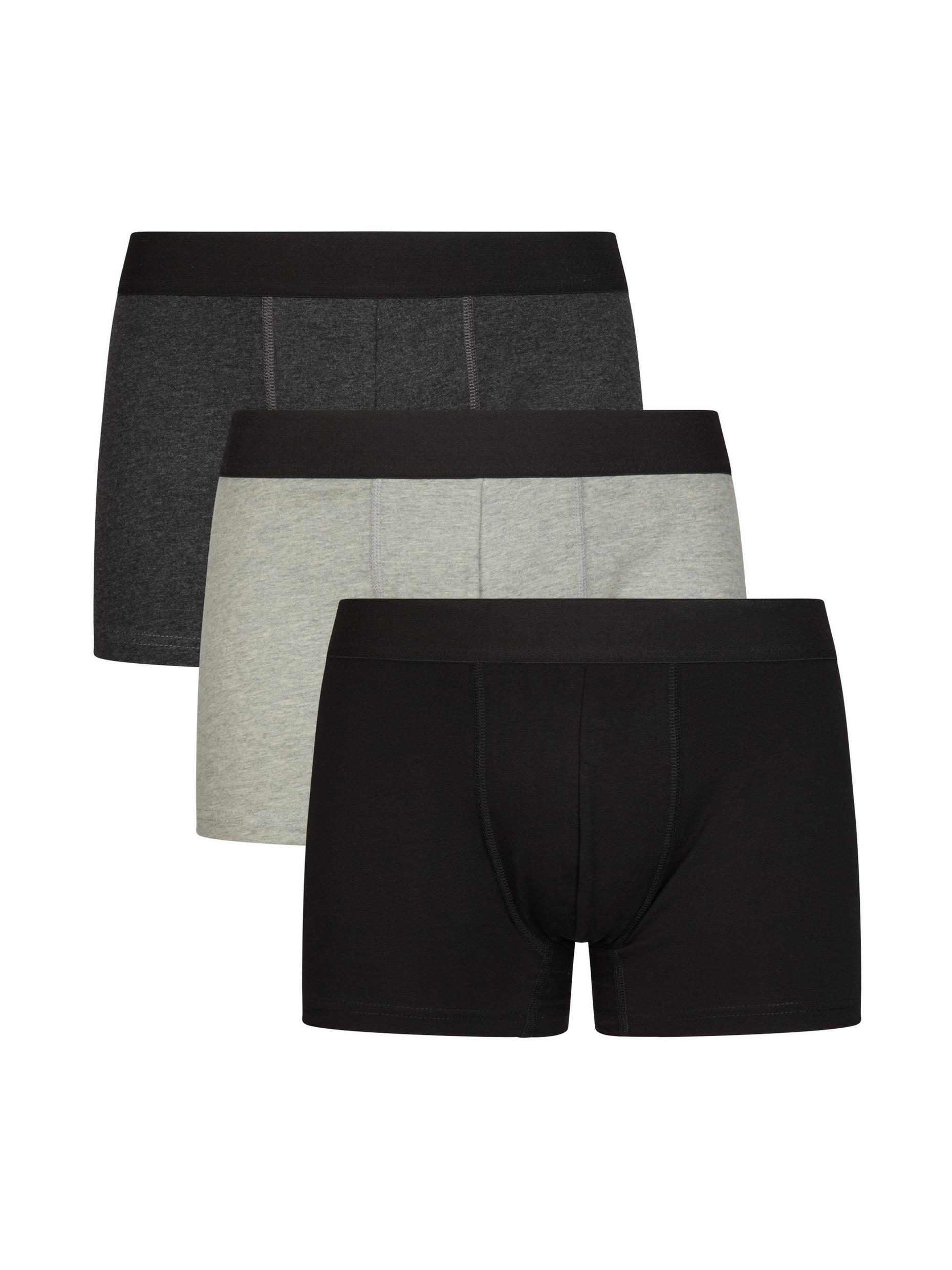 3 Pack Multi Colour Plain Organic Trunks