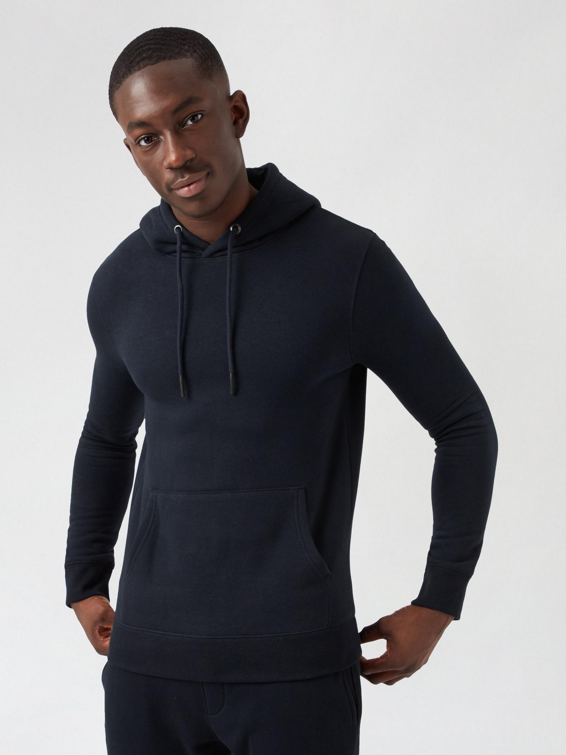 Navy Blue Muscle Fit Hoodie