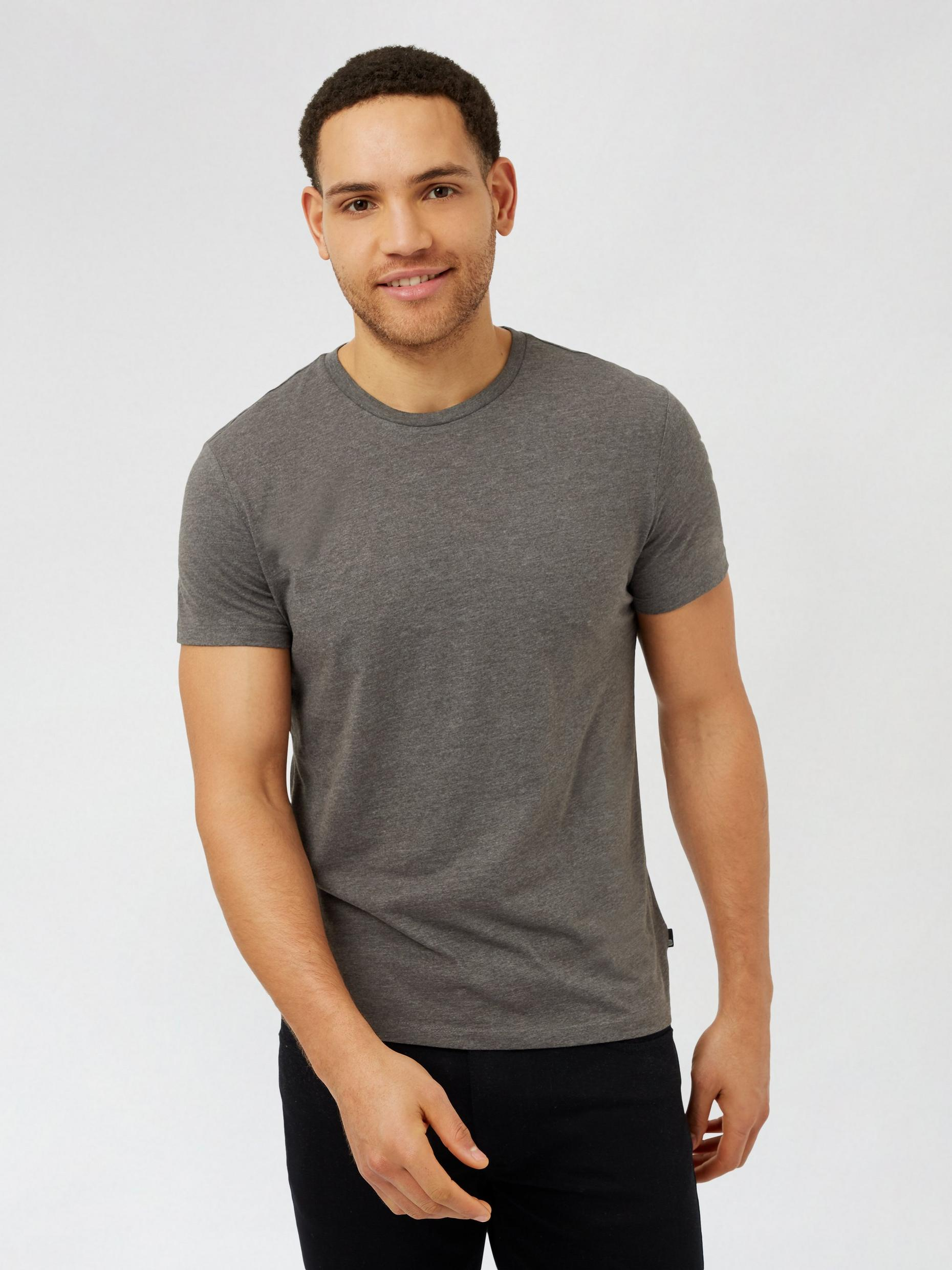 3 Pack Charcoal Brown White Organic TShirts
