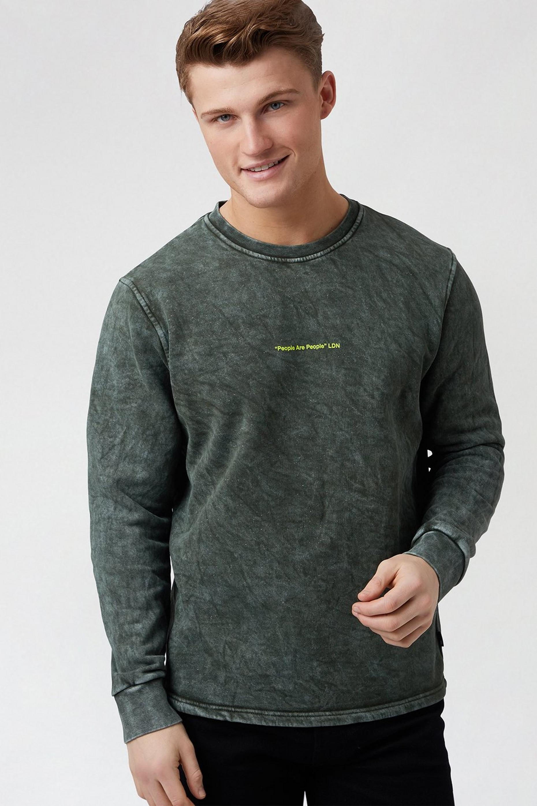 Washed Khaki People Sweatshirt