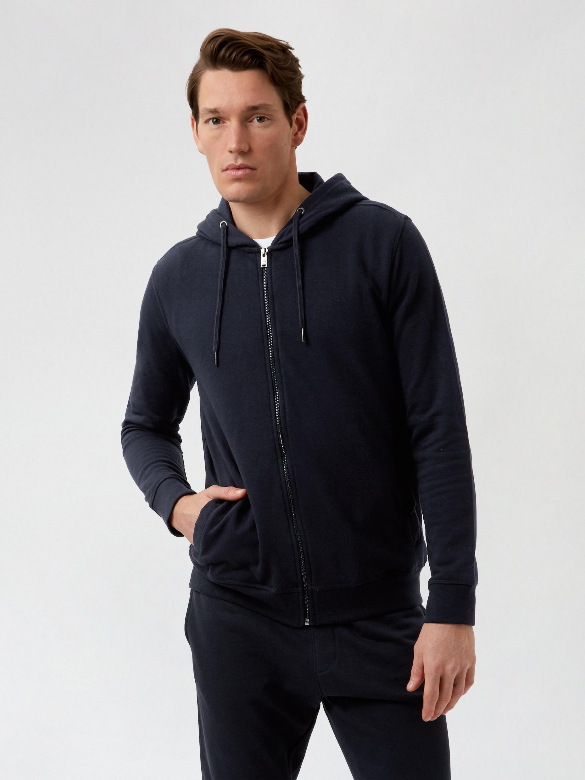 2 Pack Navy Zip Through Hood and Navy Joggers