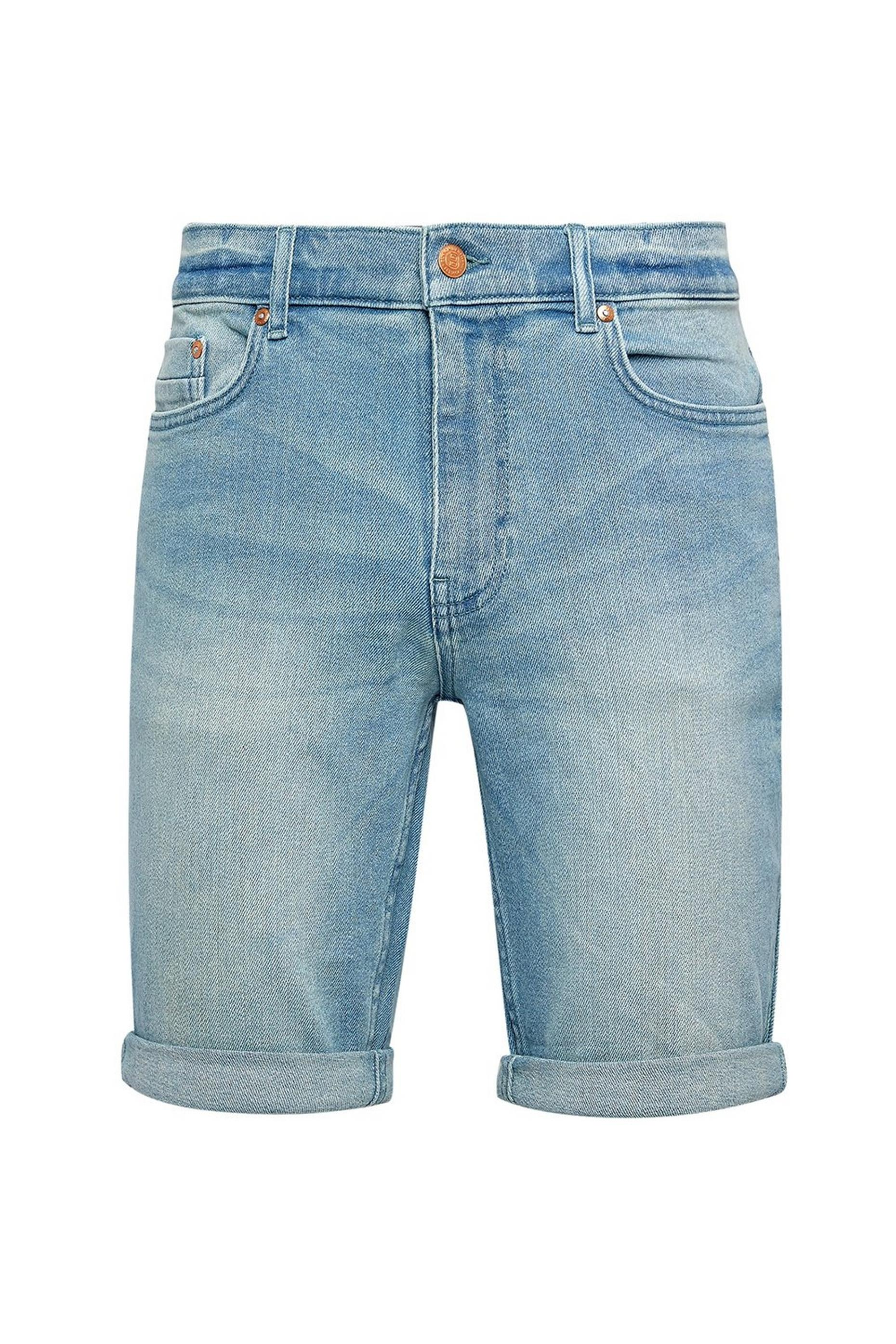 Light Blue Skinny Shorts