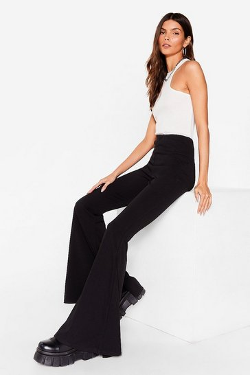 Black Back Flare We Belong High-Waisted Pants