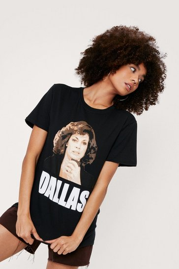 Black Sue Ellen Dallas Graphic T-Shirt
