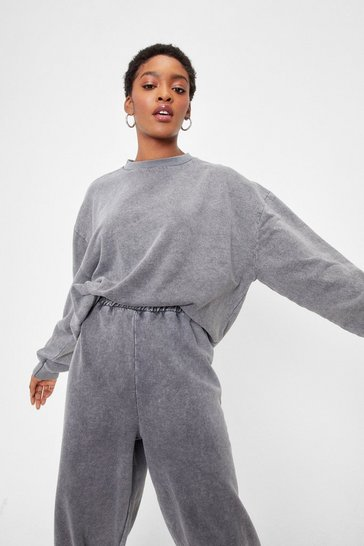 Blue Hey Wash Up Relaxed Sweatshirt