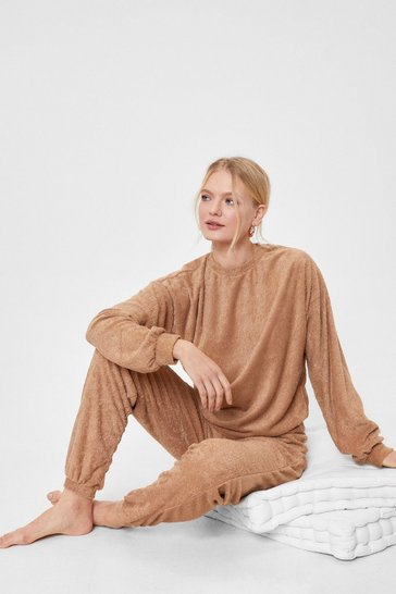 Caramel Soft Knit Sweatshirt and Joggers Set